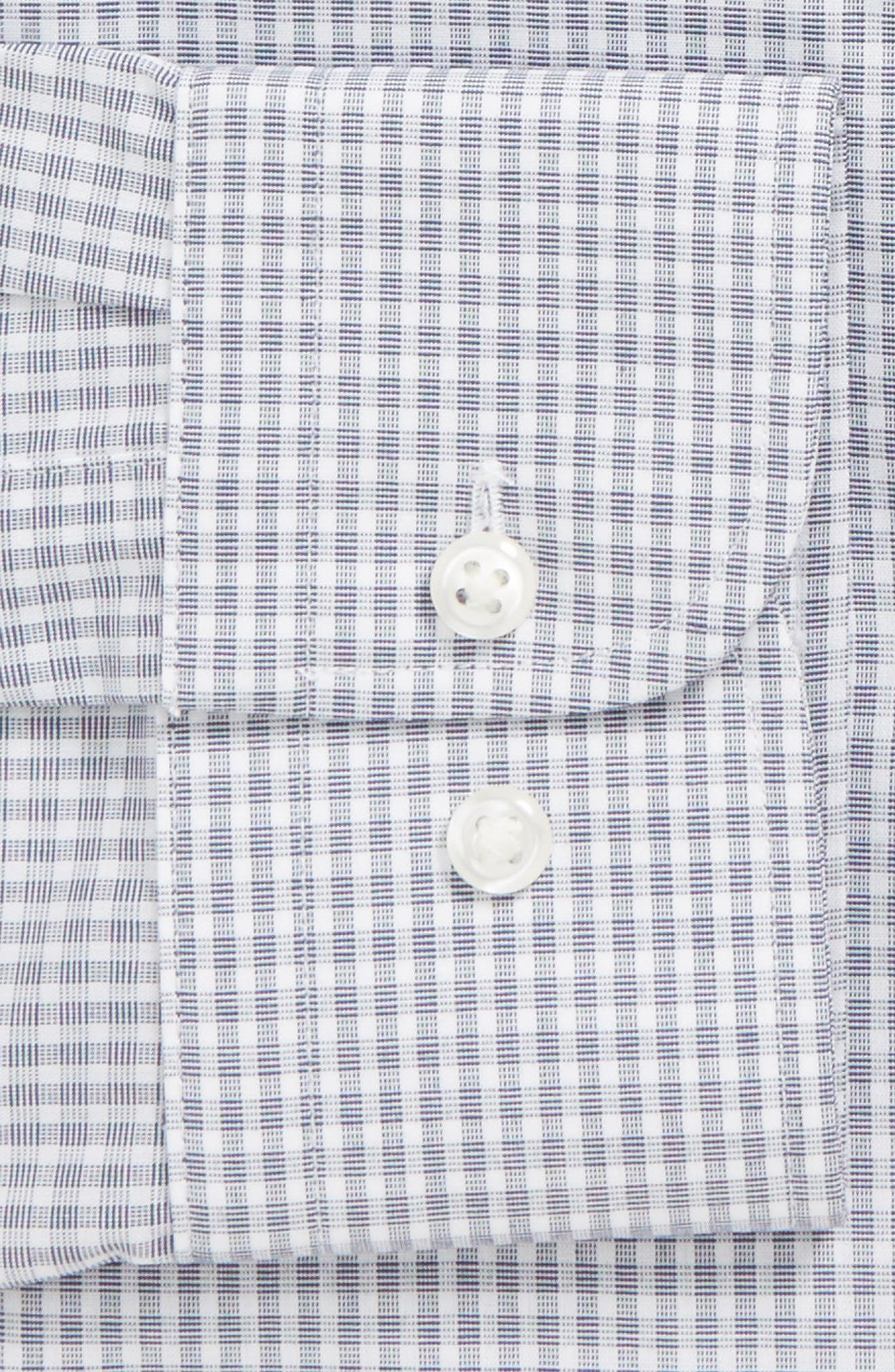Extra Trim Fit Non-Iron Check Dress Shirt,                             Alternate thumbnail 16, color,