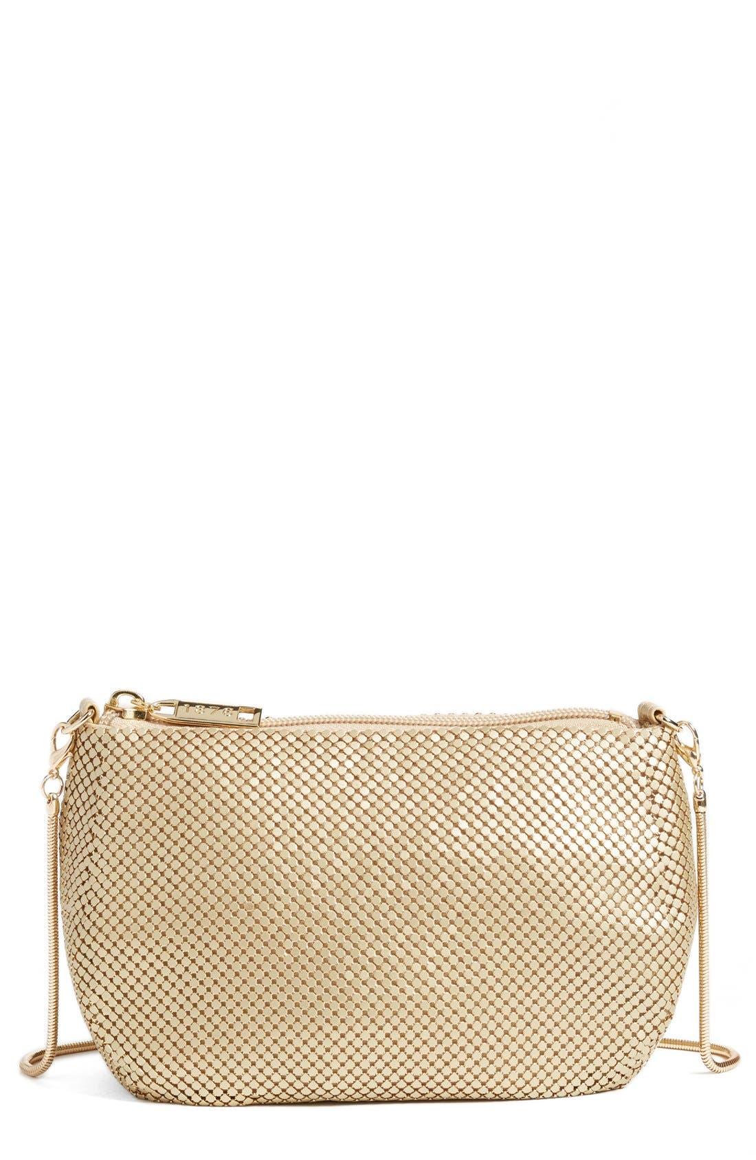 'Matte' Mesh Crossbody Bag,                         Main,                         color, MATTE GOLD