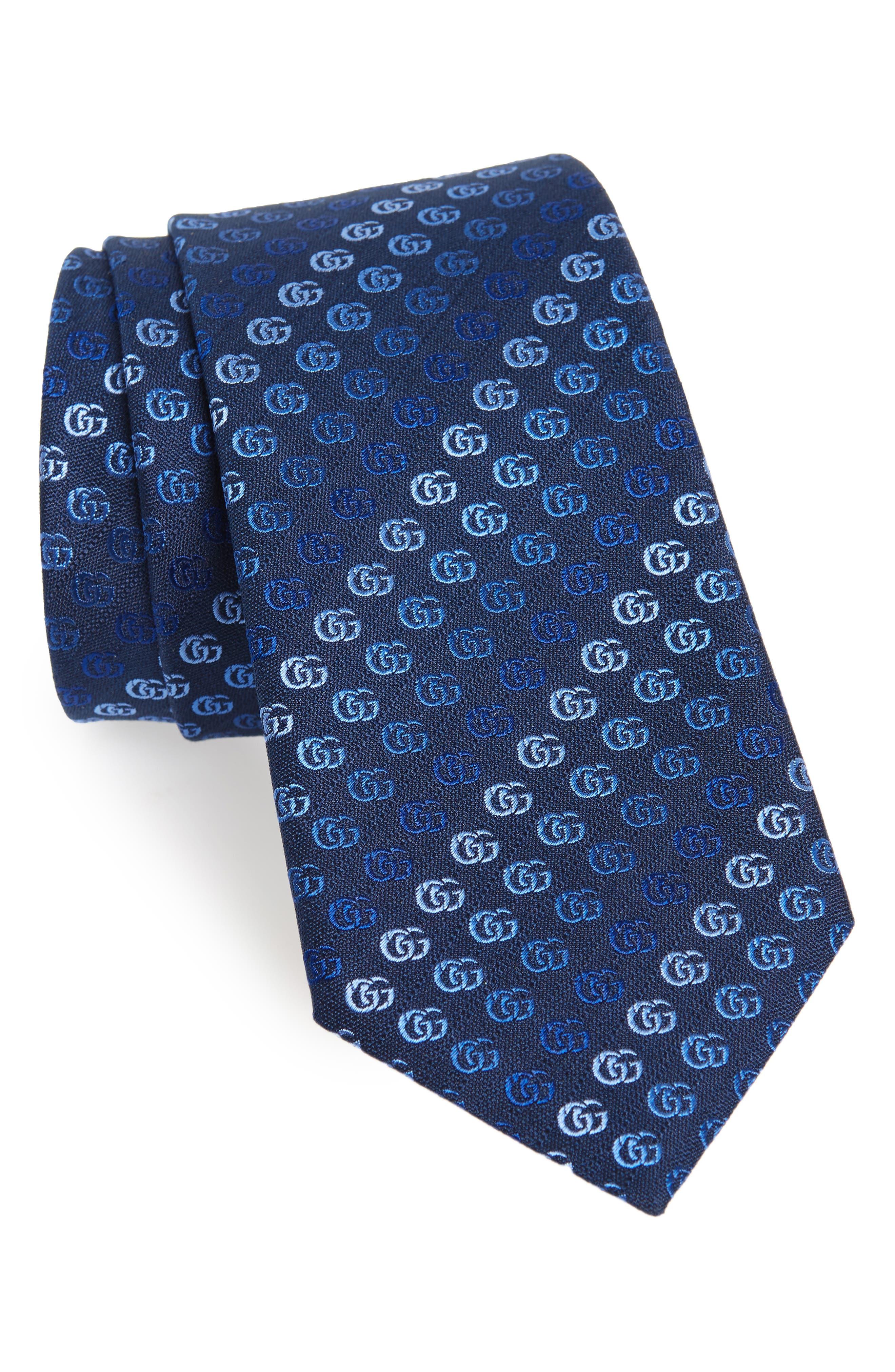 Soft Running GG Silk Tie,                         Main,                         color, 452