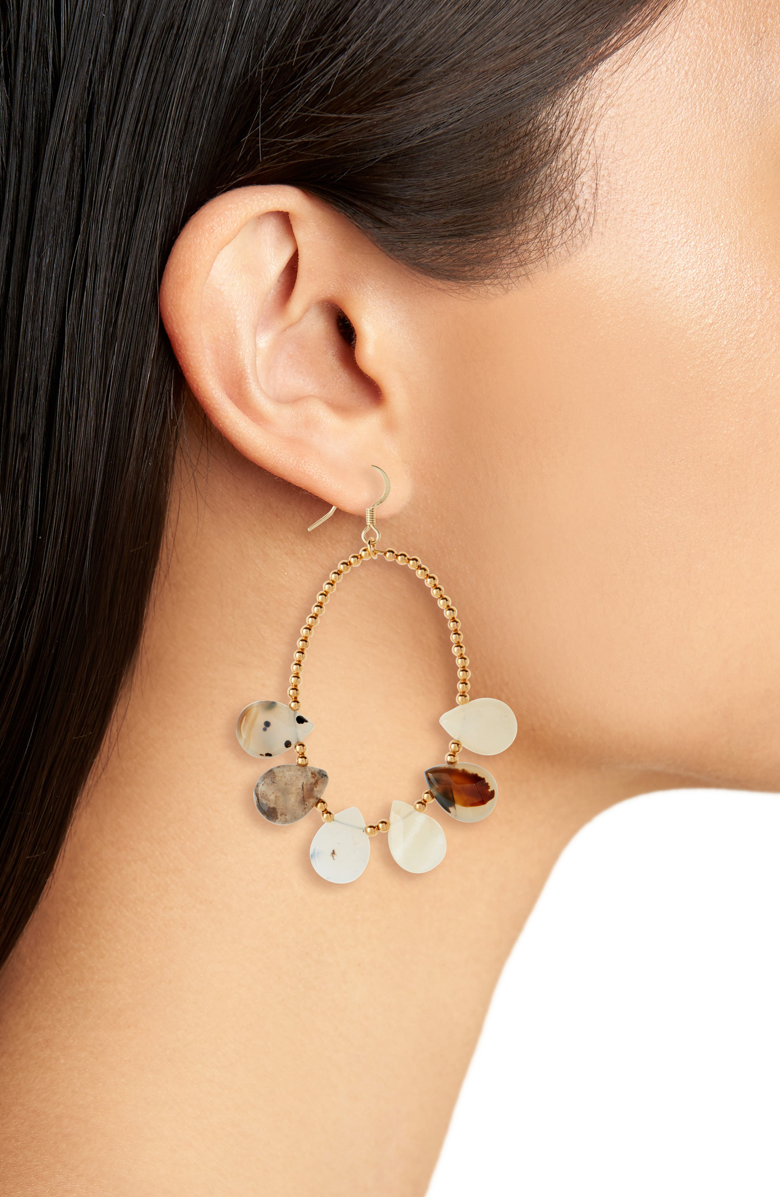 Love's Affect Dahlia Stone & Bead Drop Earrings,                             Alternate thumbnail 2, color,                             710