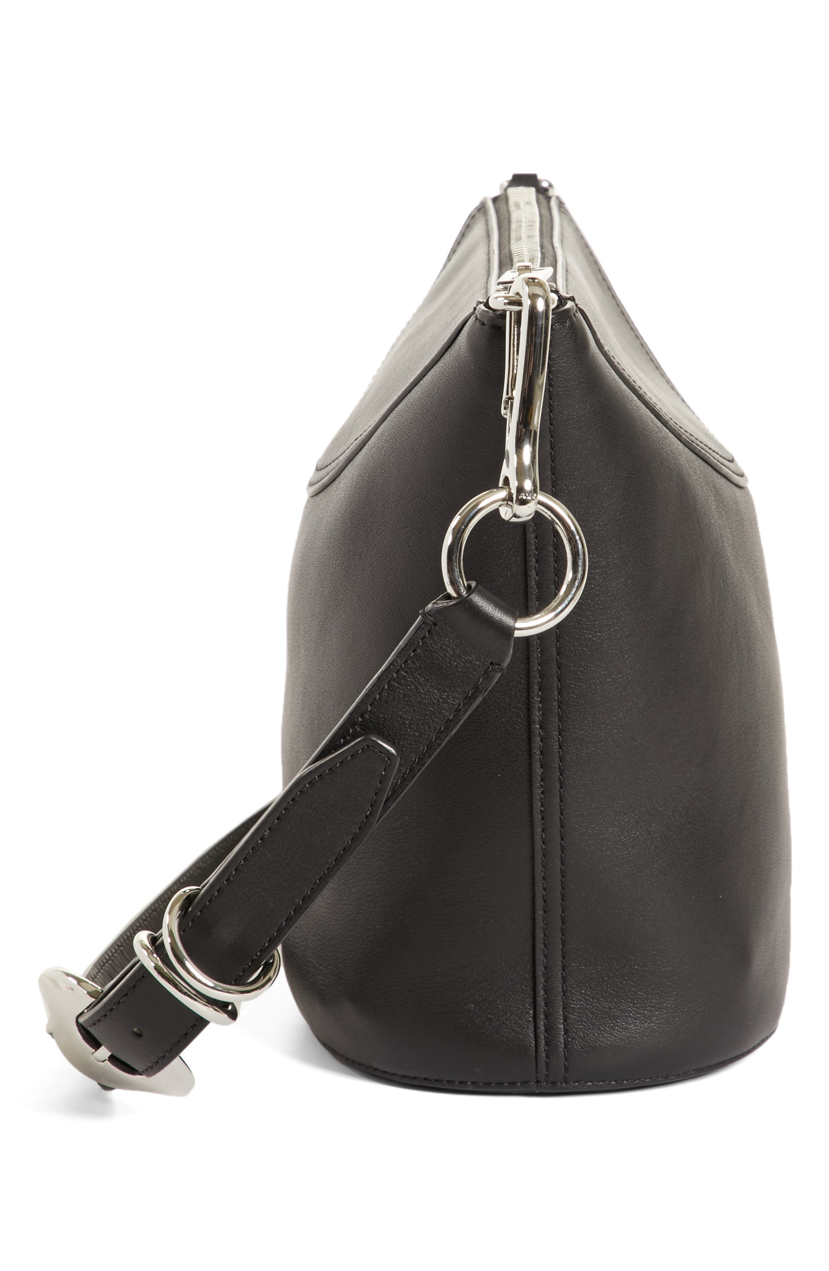 Ace Leather Bucket Bag,                             Alternate thumbnail 5, color,                             BLACK