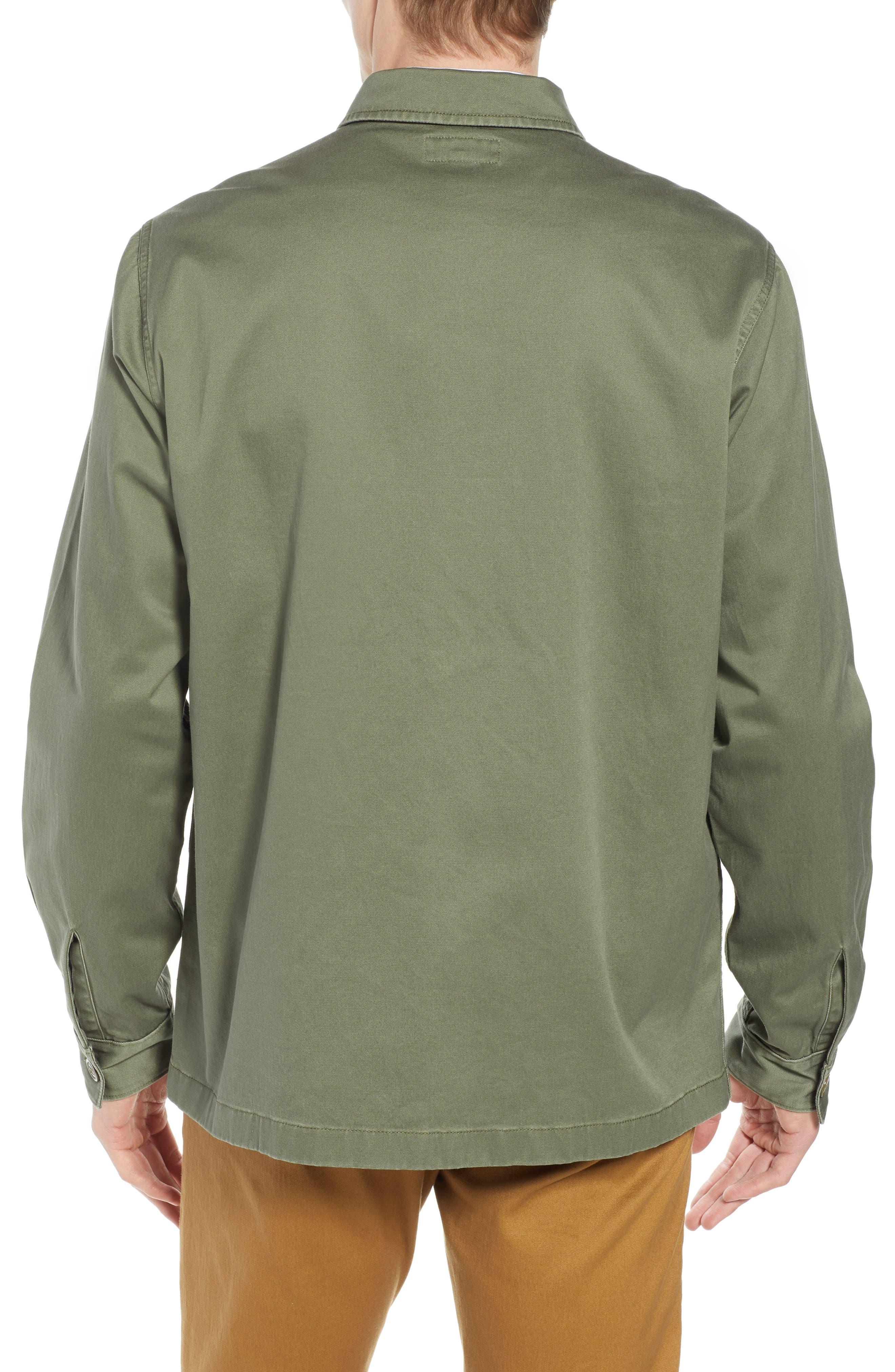 Regular Fit Military Shirt Jacket,                             Alternate thumbnail 2, color,                             SURPLUS OLIVE