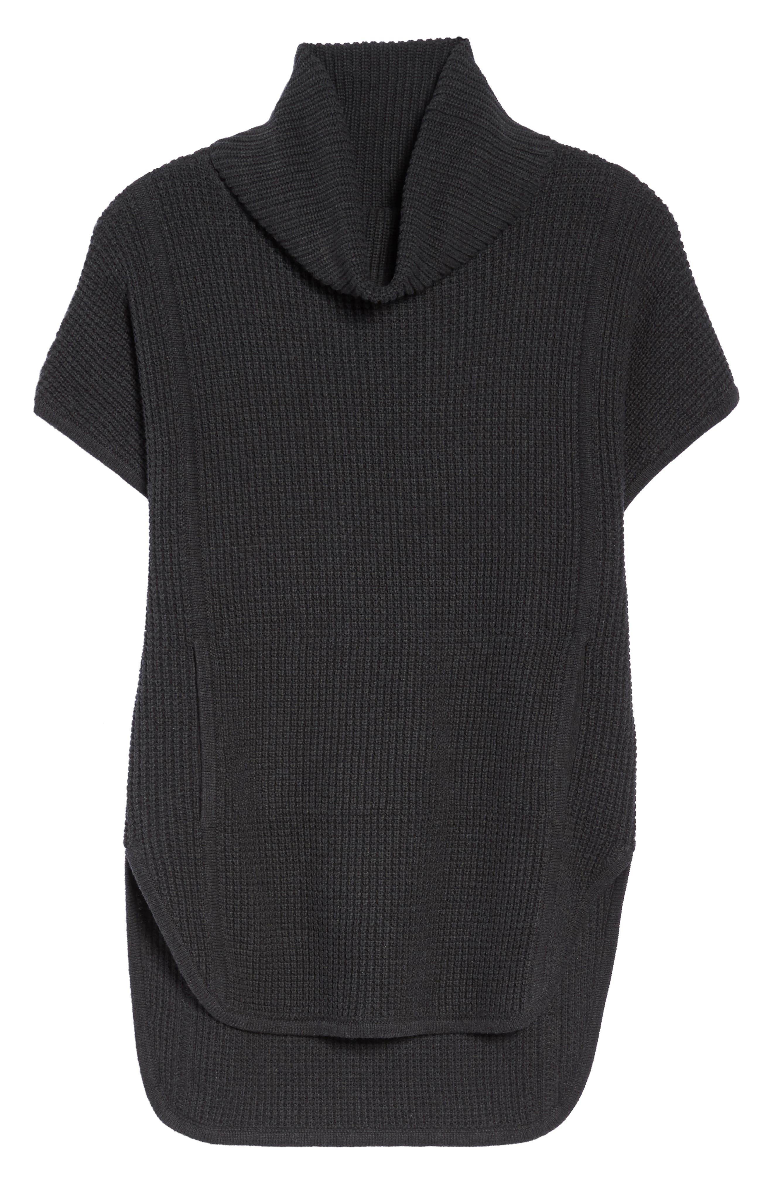 'Selby' Turtleneck Cotton Knit Pullover,                             Alternate thumbnail 6, color,                             001