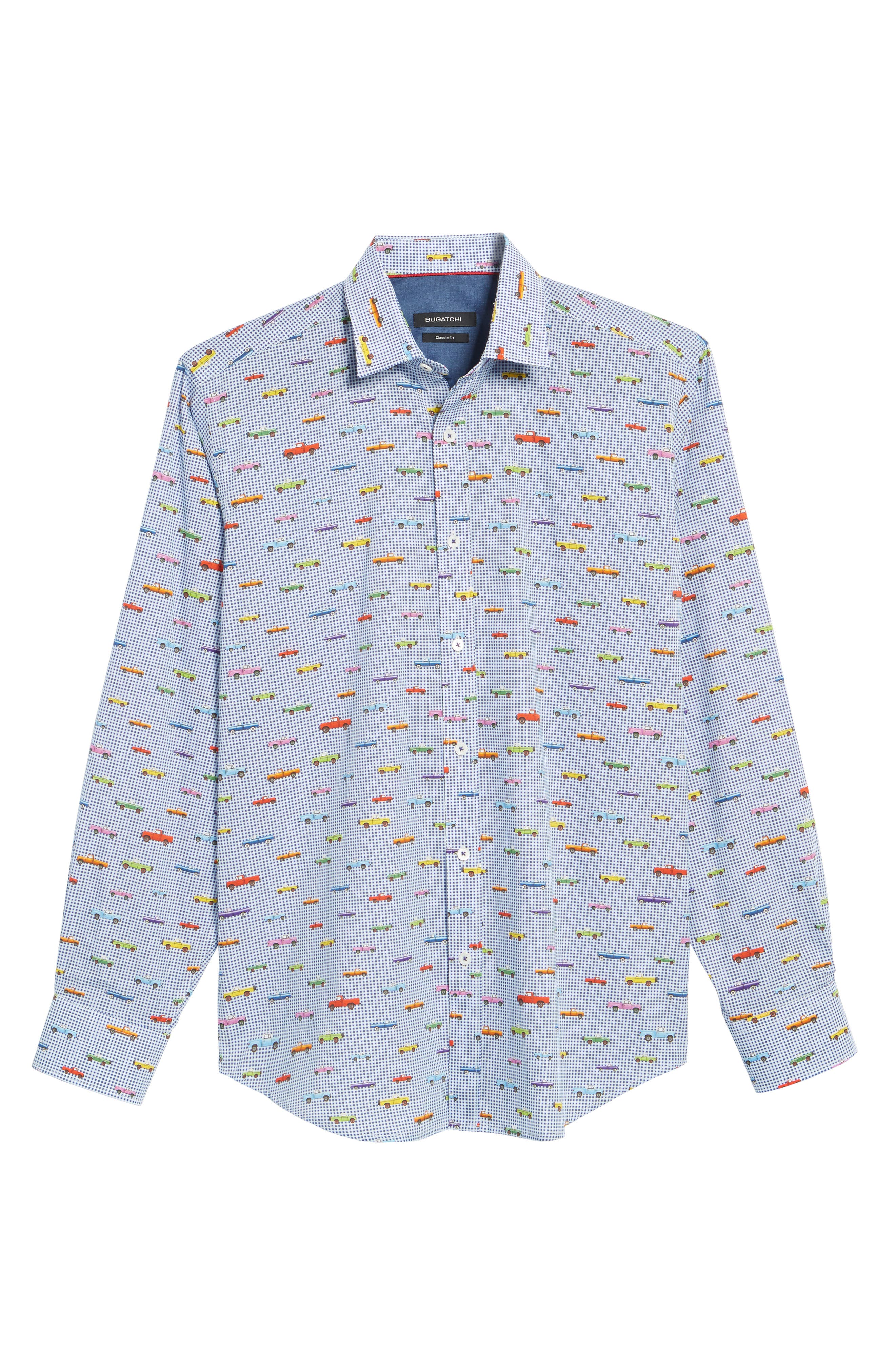 Classic Fit Pickup Truck Sport Shirt,                             Alternate thumbnail 6, color,                             ORCHID