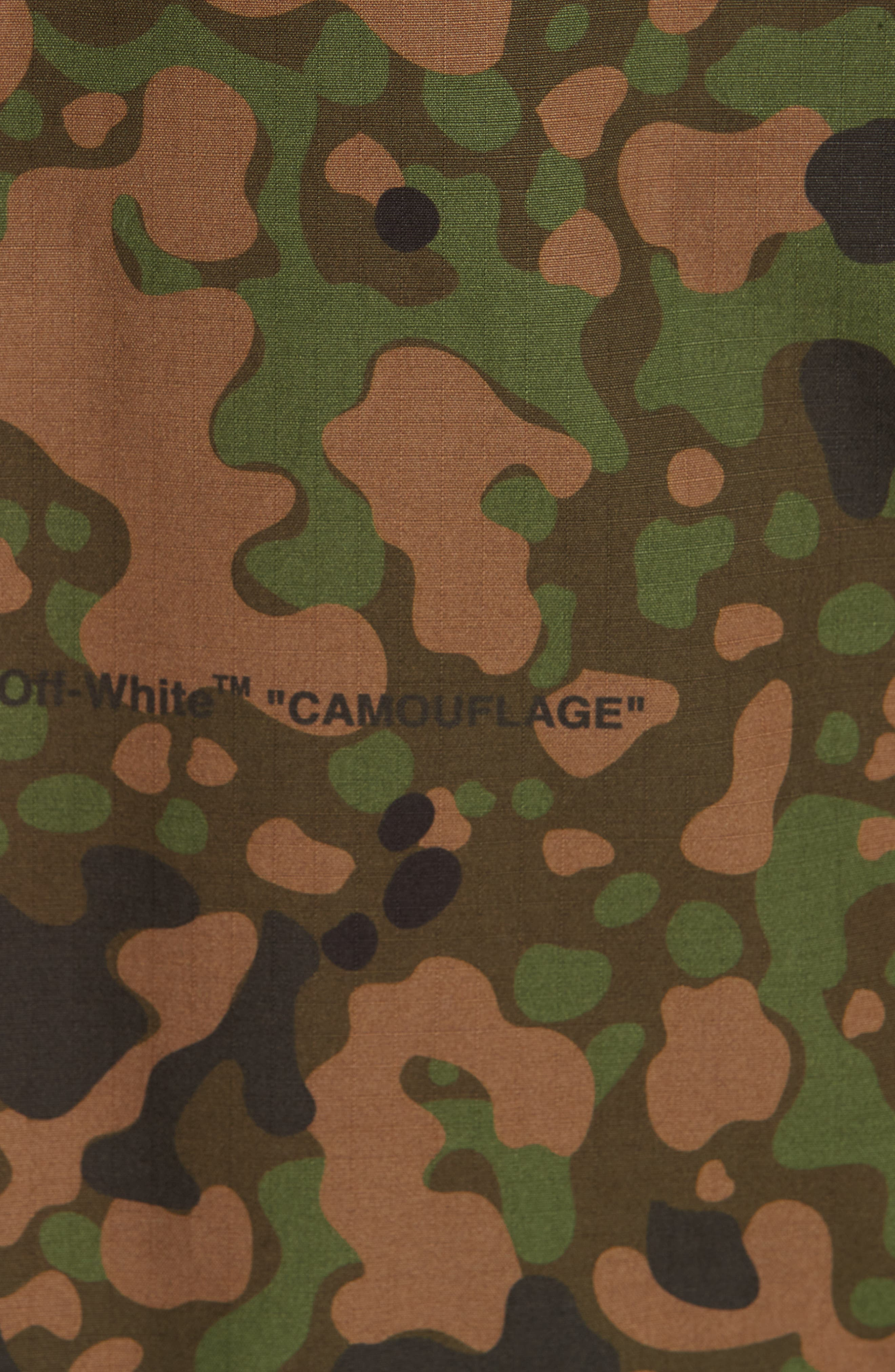 OFF-WHITE,                             Camo Field Jacket,                             Alternate thumbnail 6, color,                             CAMOU WHITE