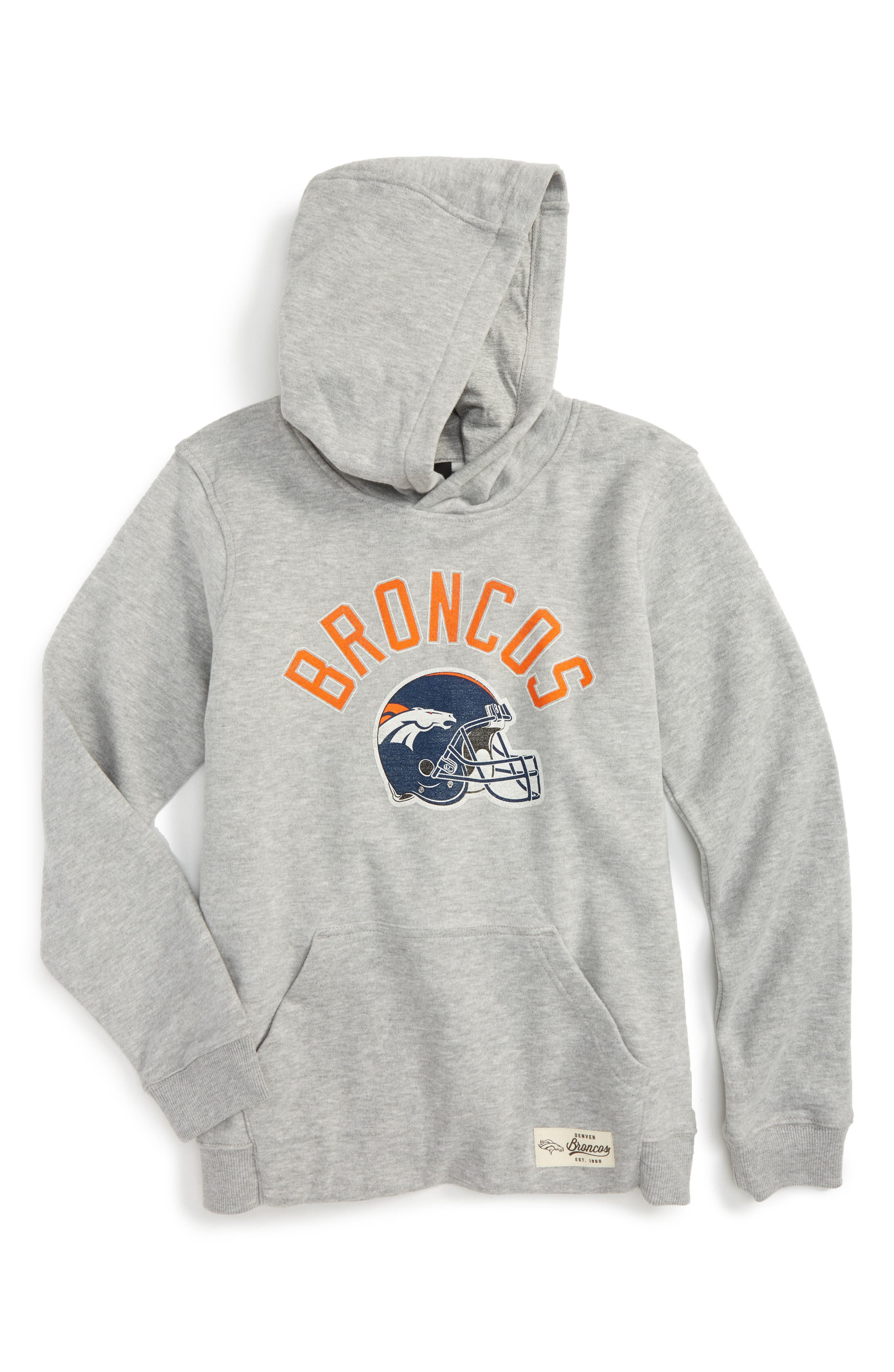NFL Denver Broncos Pullover Hoodie,                             Main thumbnail 1, color,                             020