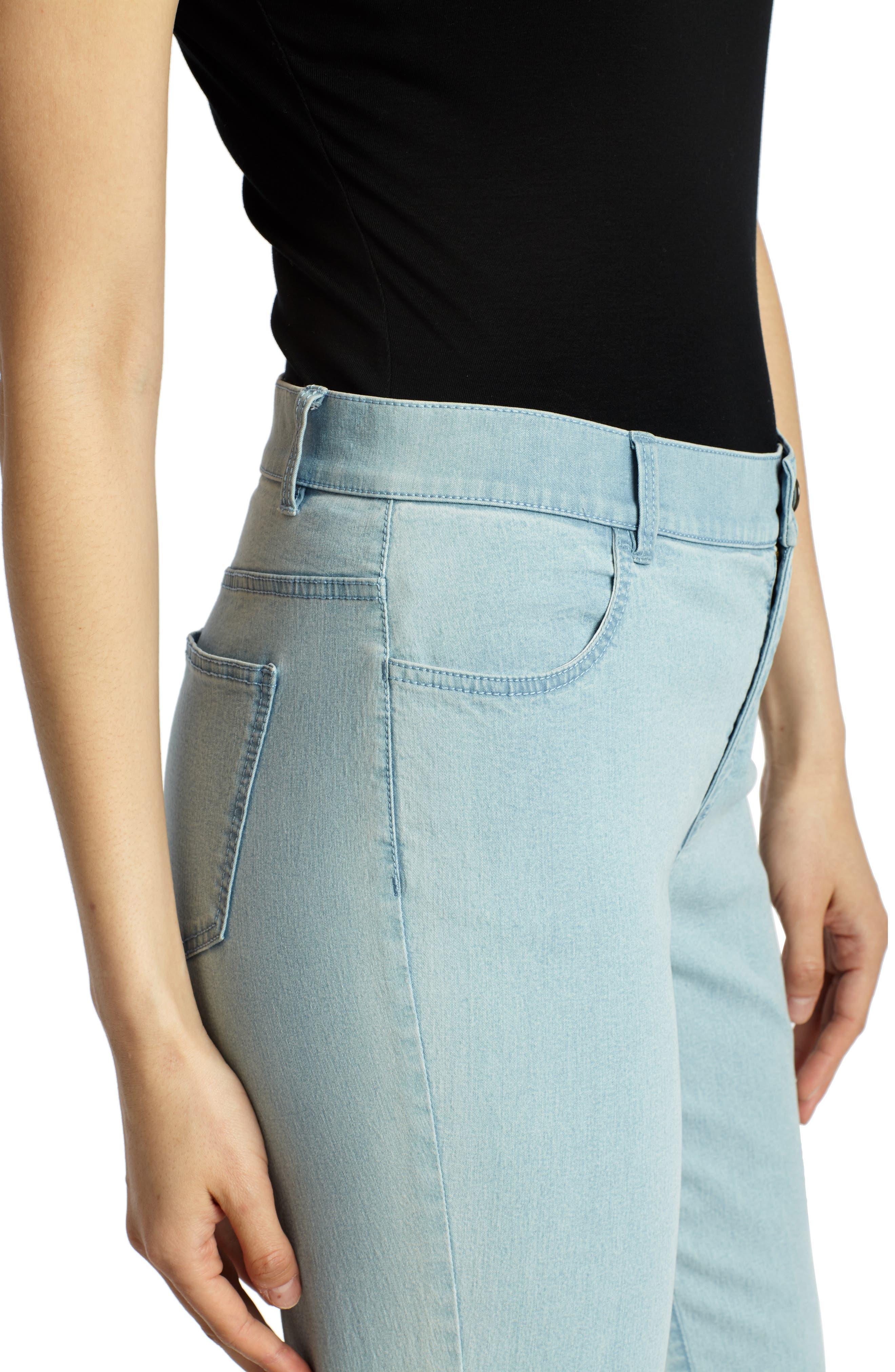 'Primo Denim' Curvy Fit Slim Leg Jeans,                             Alternate thumbnail 4, color,                             PORCELAIN