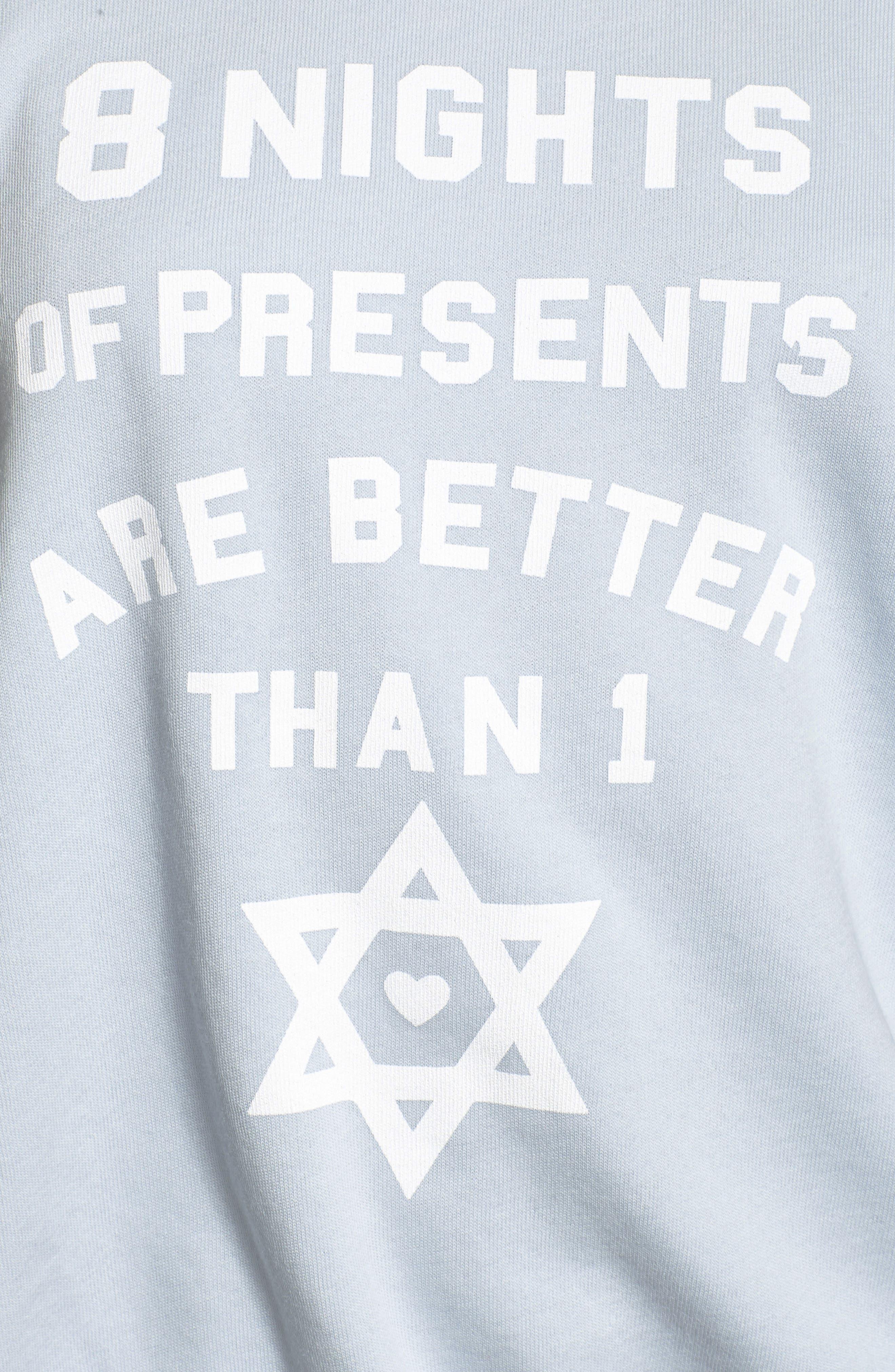 Eight Nights of Presents Hanukkah Sweater,                             Alternate thumbnail 5, color,                             401