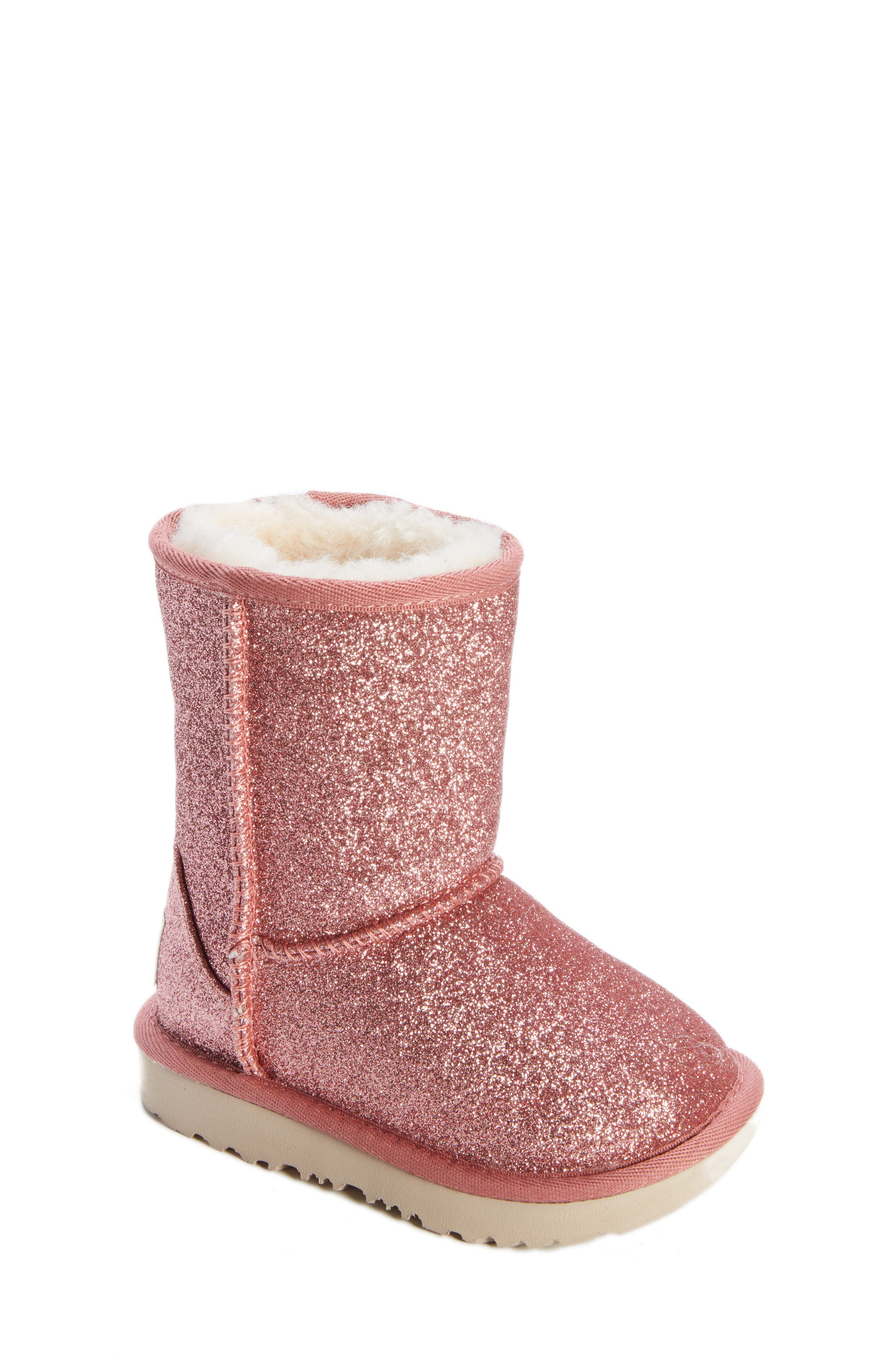 Classic Short II Glitter Bootie,                             Main thumbnail 1, color,                             PINK
