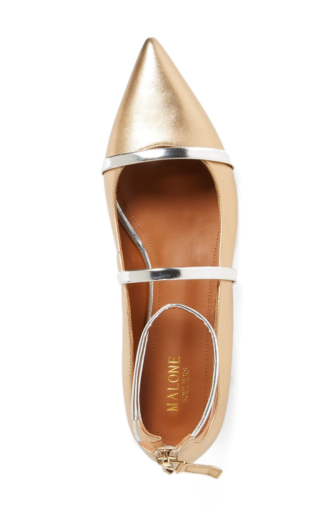 'Robyn' Ankle Strap Flat,                             Alternate thumbnail 3, color,                             710