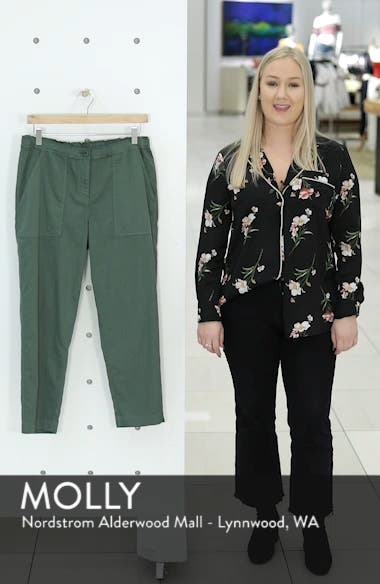 Tapered Organic Cotton Crop Pants, sales video thumbnail