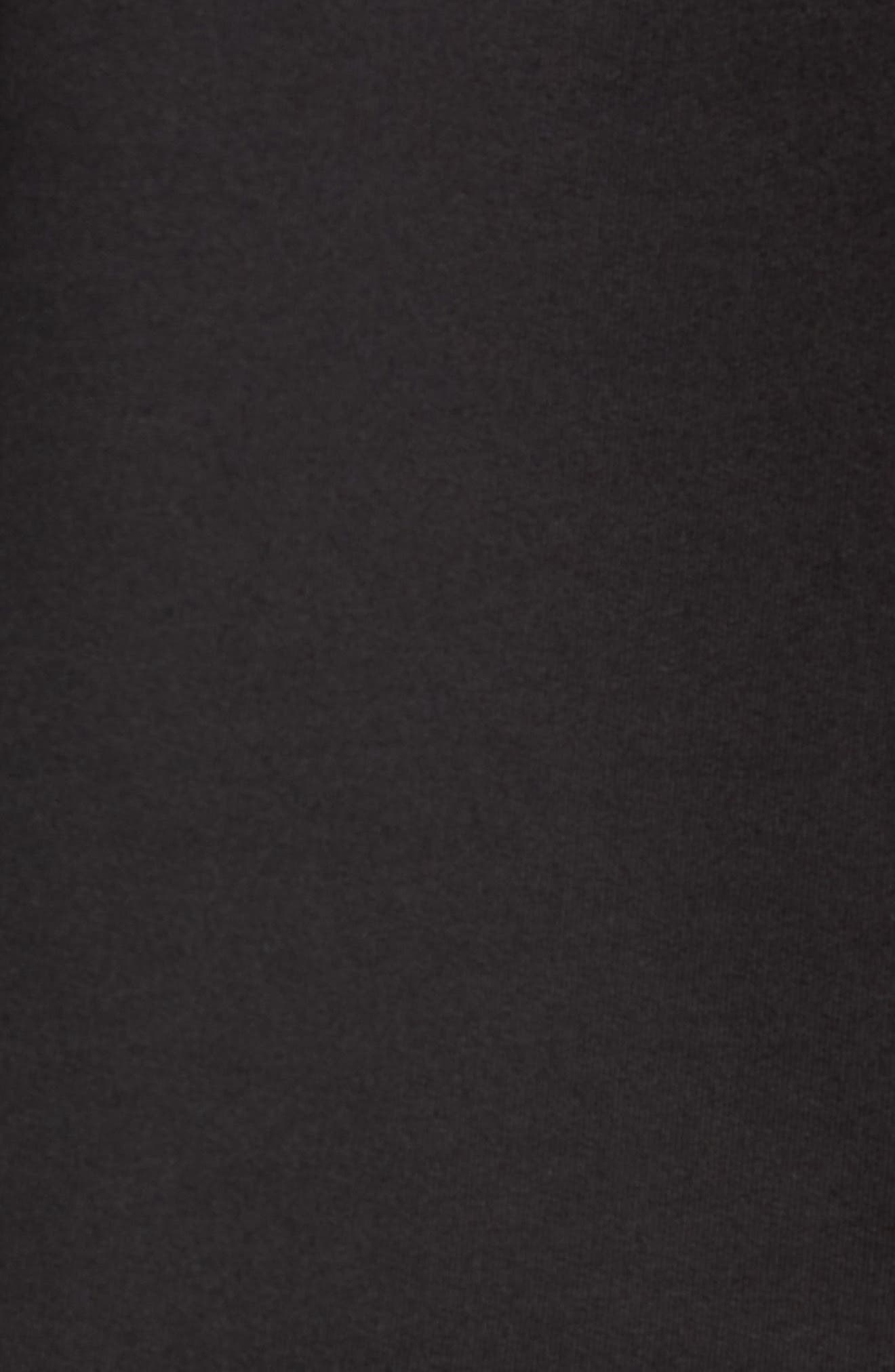 Pride Mock Neck Sweatshirt,                             Alternate thumbnail 5, color,                             JET BLACK