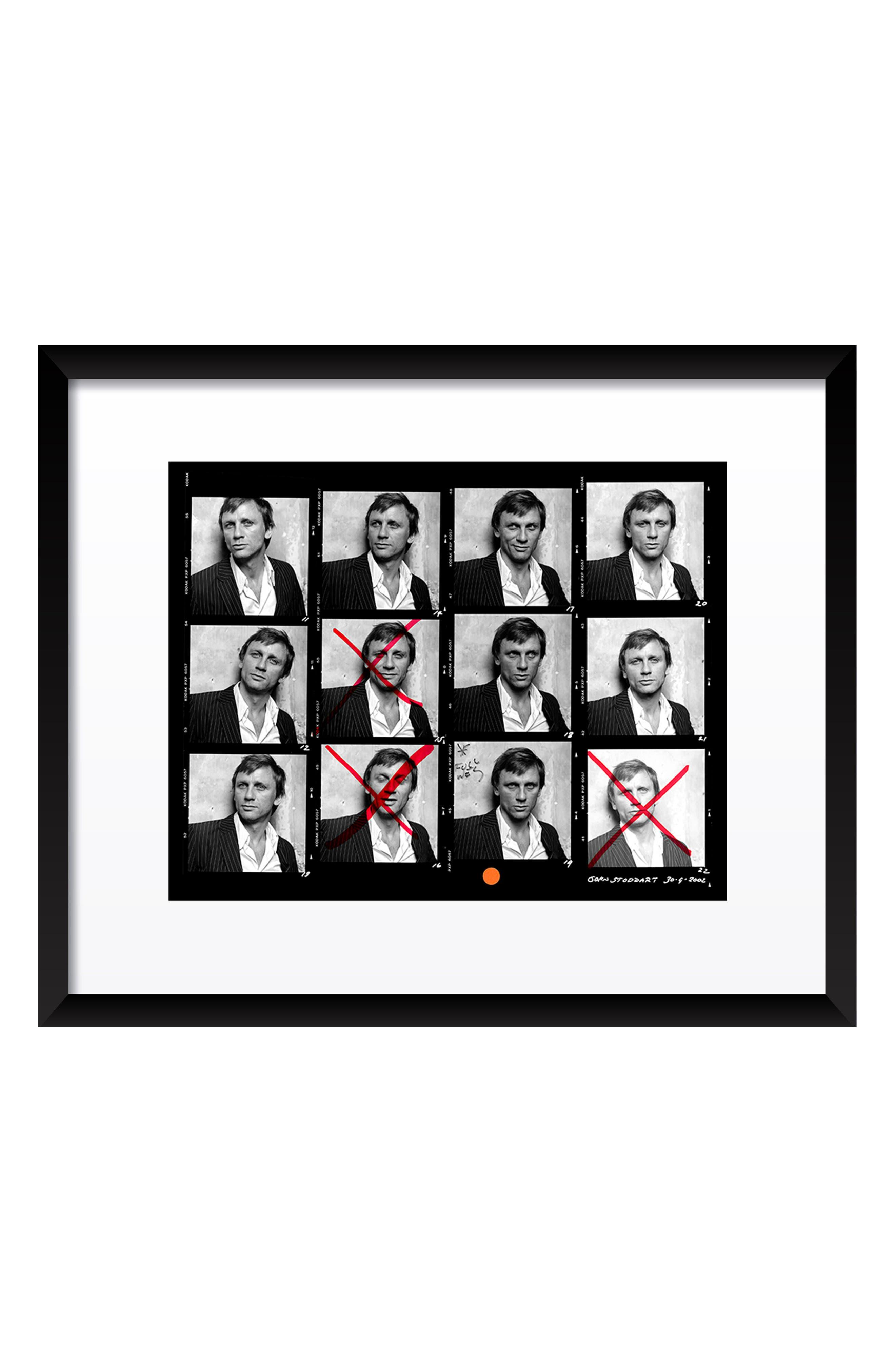 Daniel Craig Contact Sheet Fine Art Print,                         Main,                         color, 001