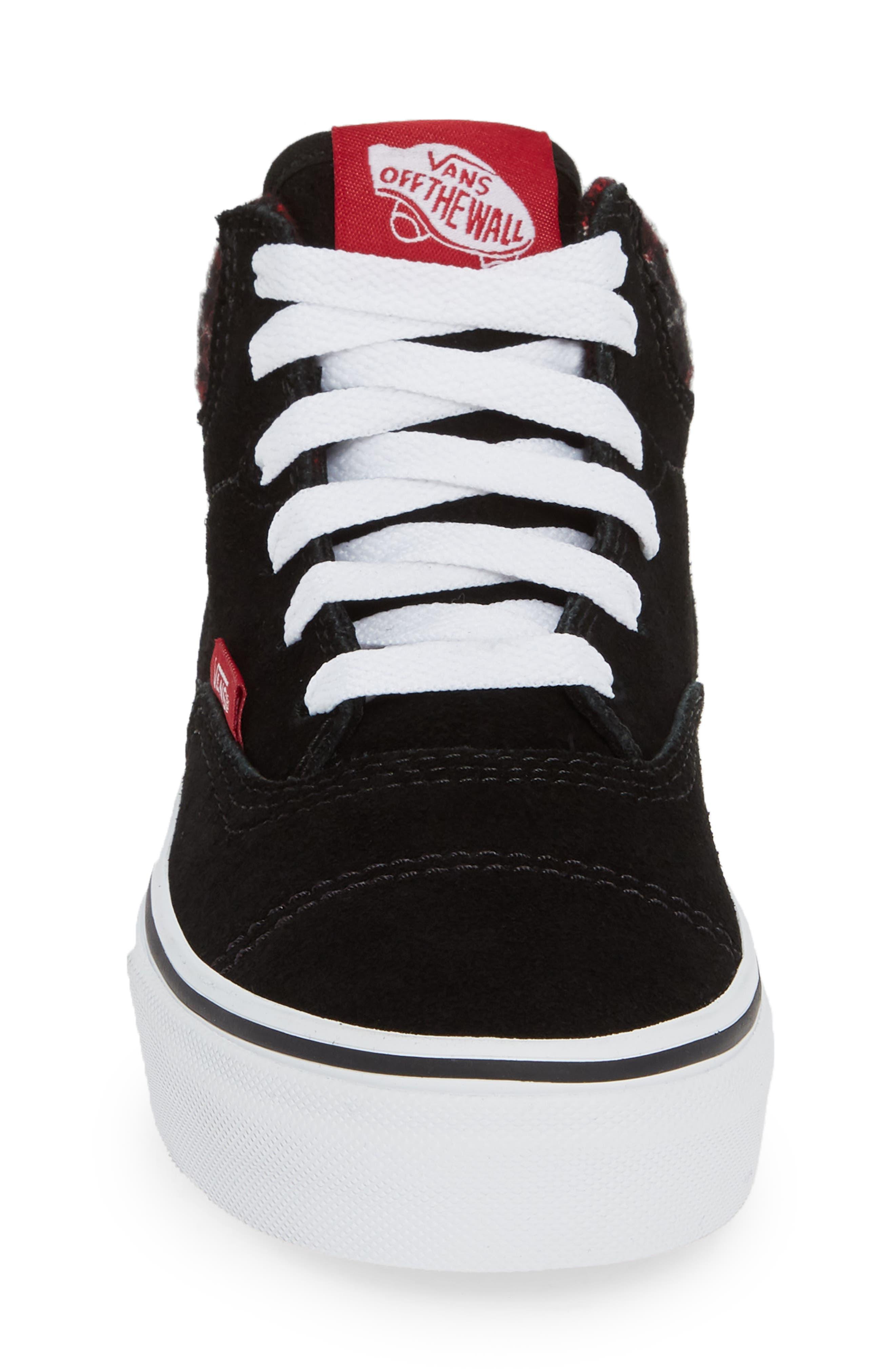Era - Hi Sneaker,                             Alternate thumbnail 4, color,                             SUEDE AND PLAID BLACK/ WHITE
