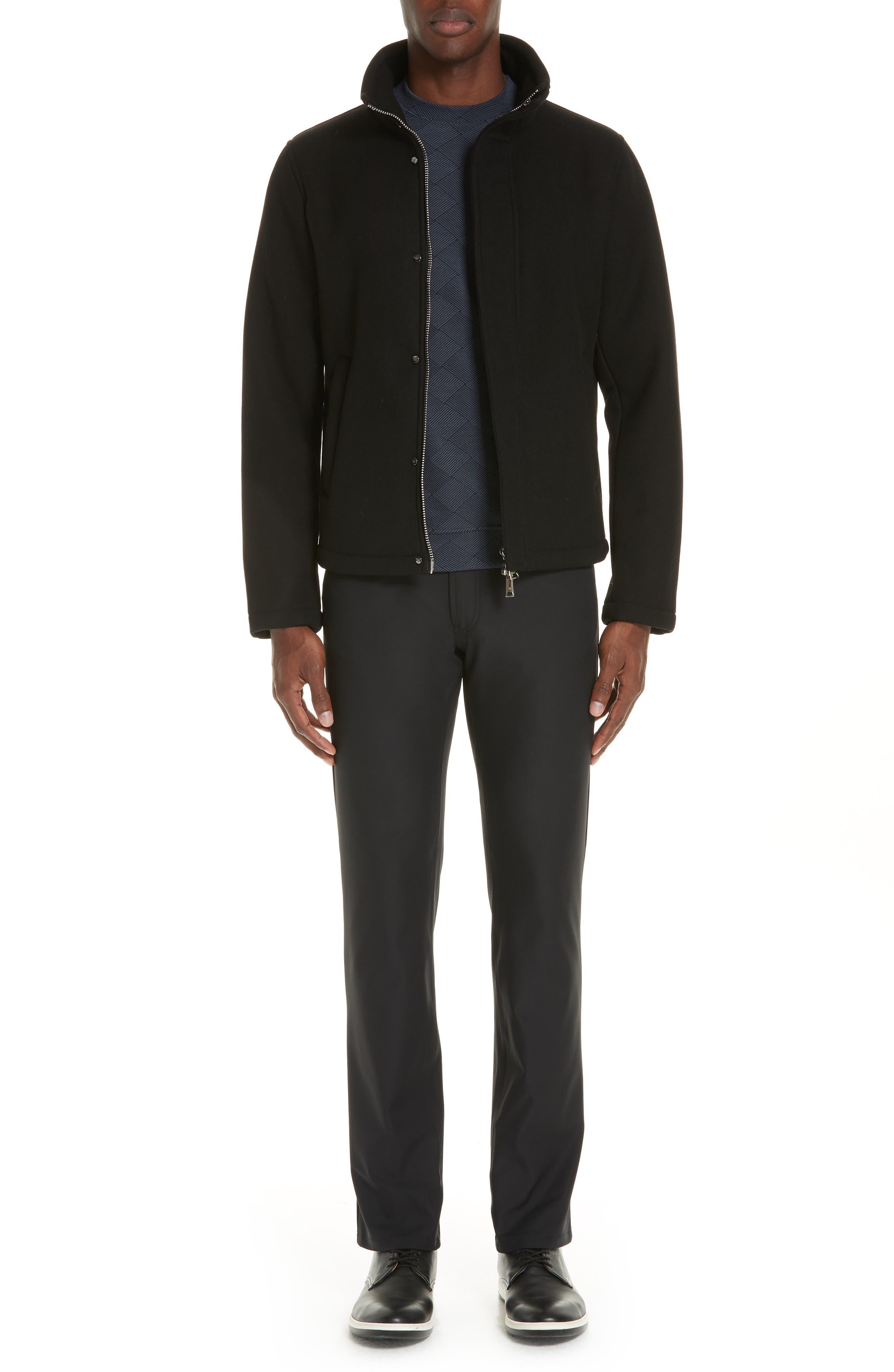 Broadcloth Down Jacket,                             Alternate thumbnail 7, color,                             BLACK
