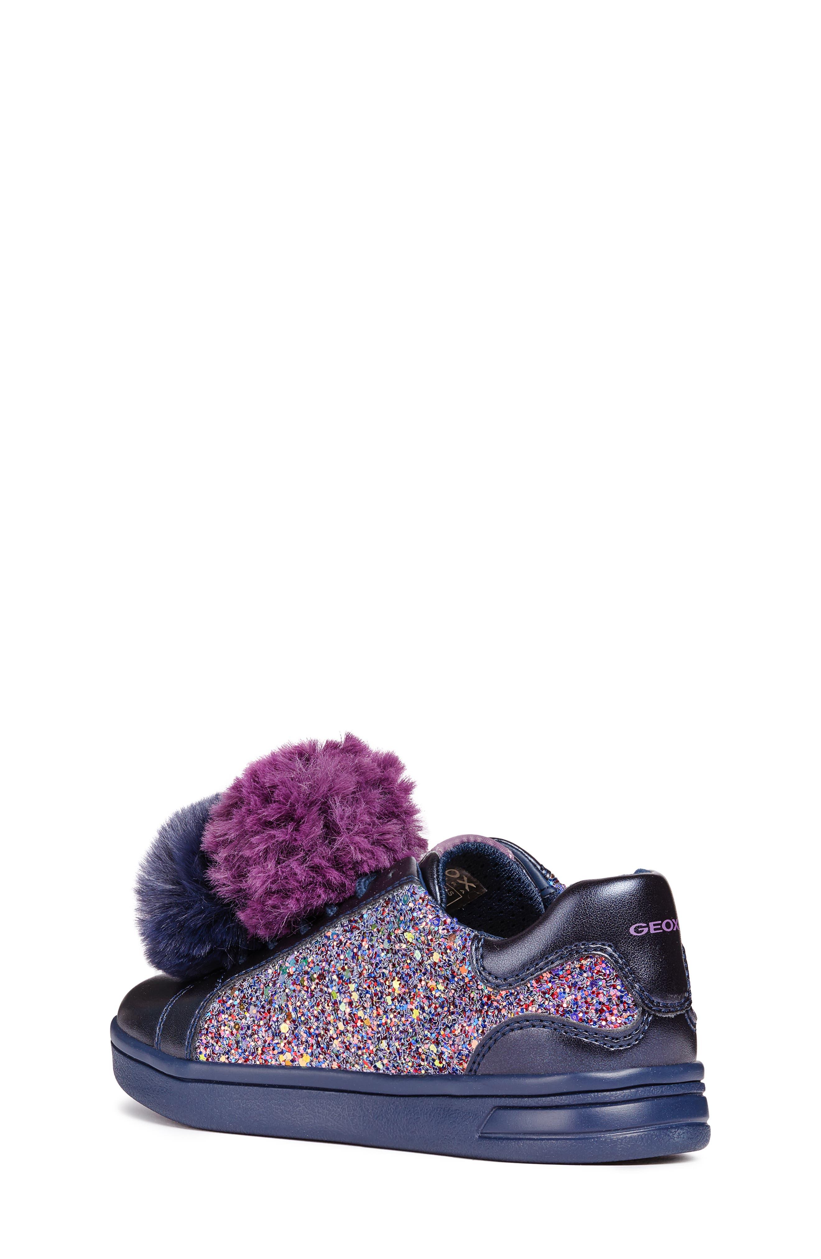 DJ Rock Glitter Pompom Sneaker,                             Alternate thumbnail 2, color,                             NAVY/LT PRUNE
