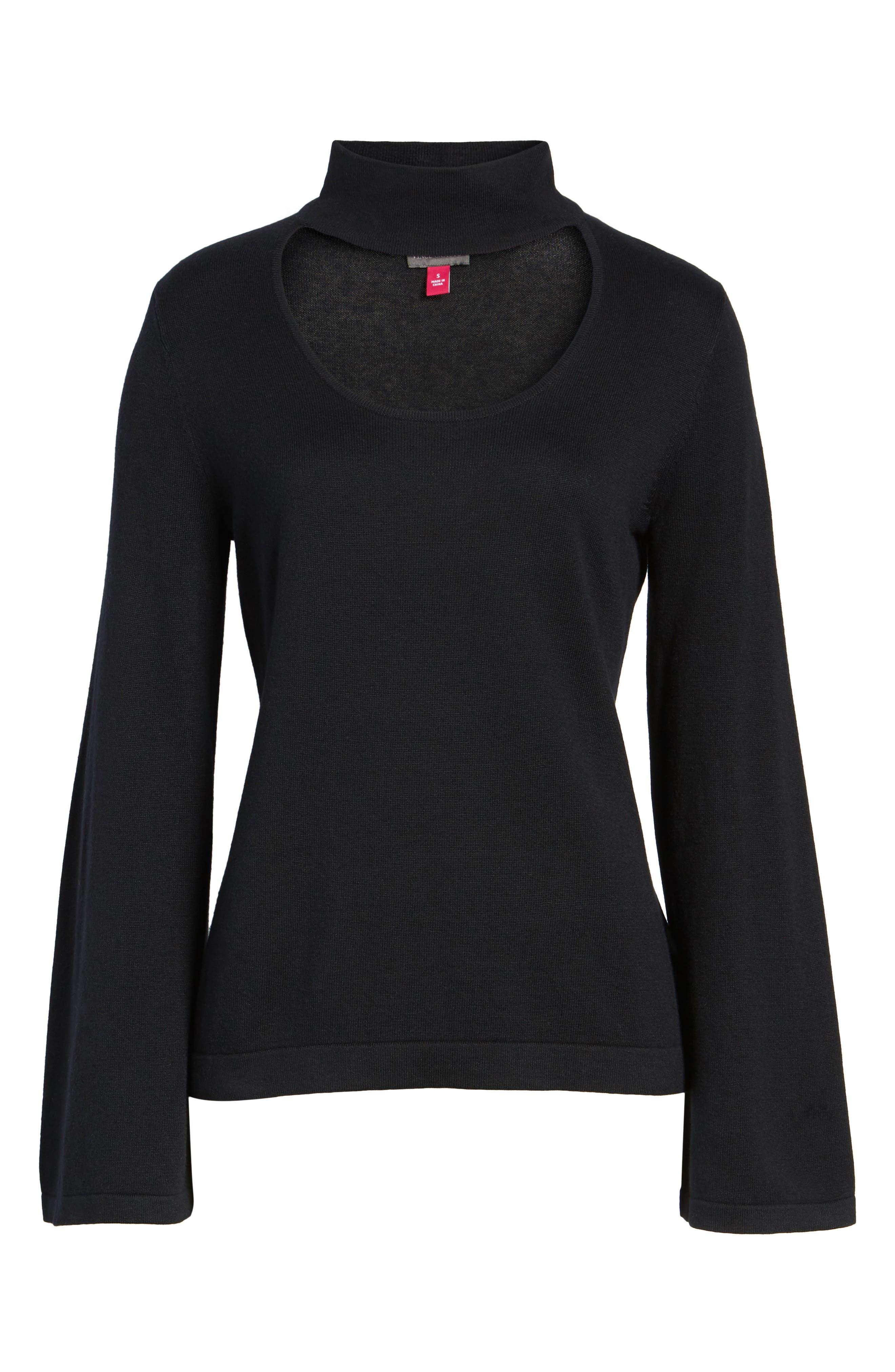 Bell Sleeve Choker Neck Sweater,                             Alternate thumbnail 26, color,