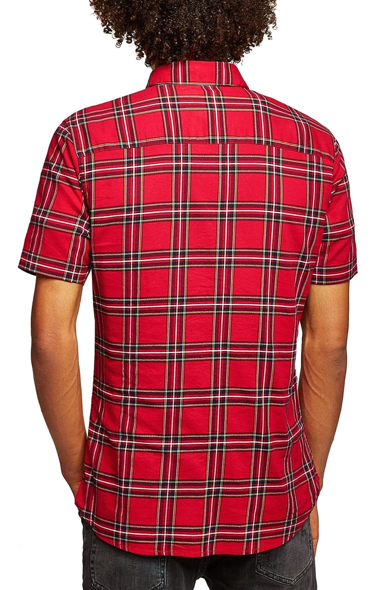 Muscle Fit Tartan Check Shirt,                             Alternate thumbnail 2, color,                             600
