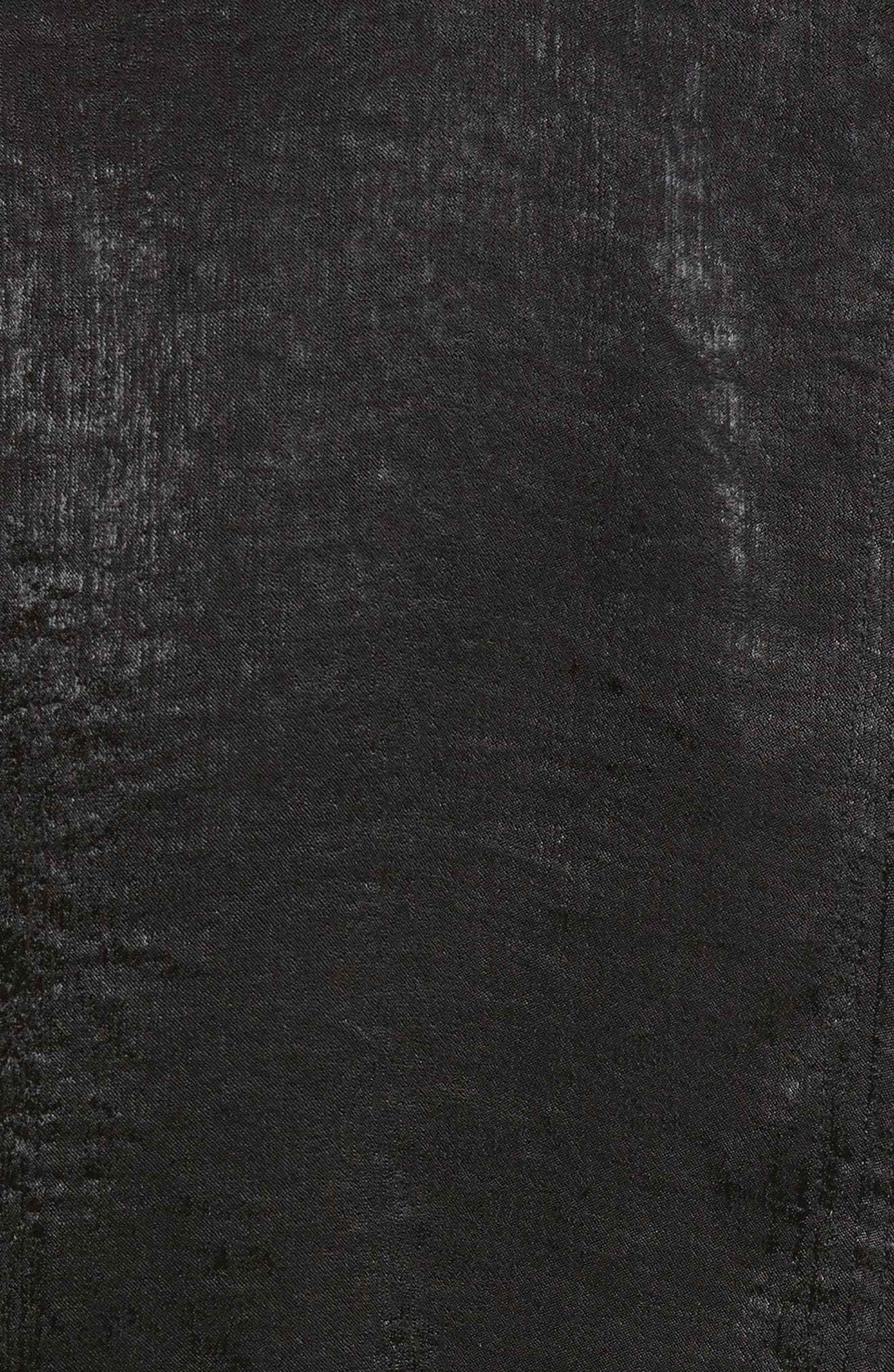 Sateen Tie Back Blouse,                             Alternate thumbnail 5, color,                             001