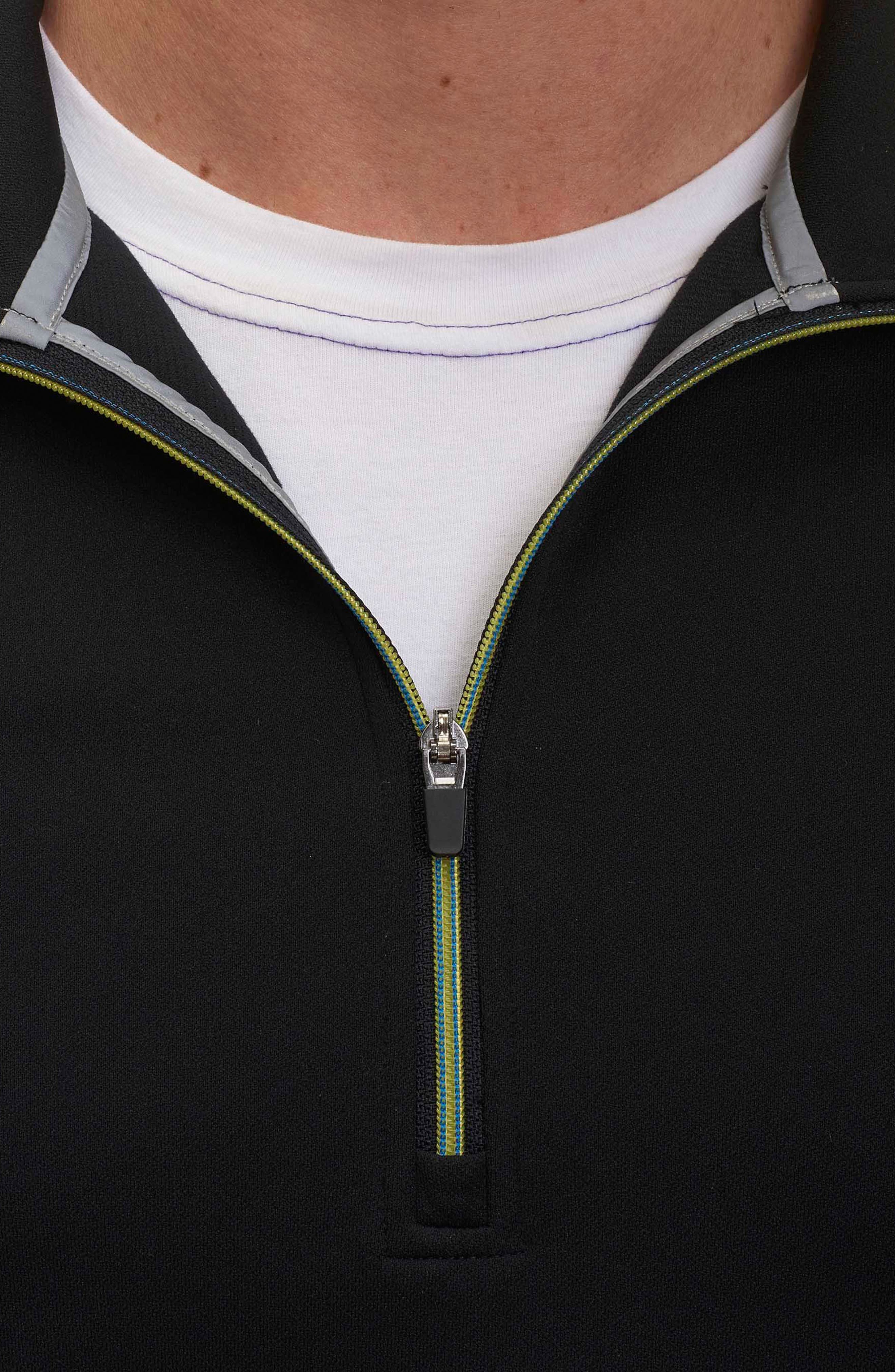 Taylore Quarter Zip Pullover,                             Alternate thumbnail 3, color,                             001