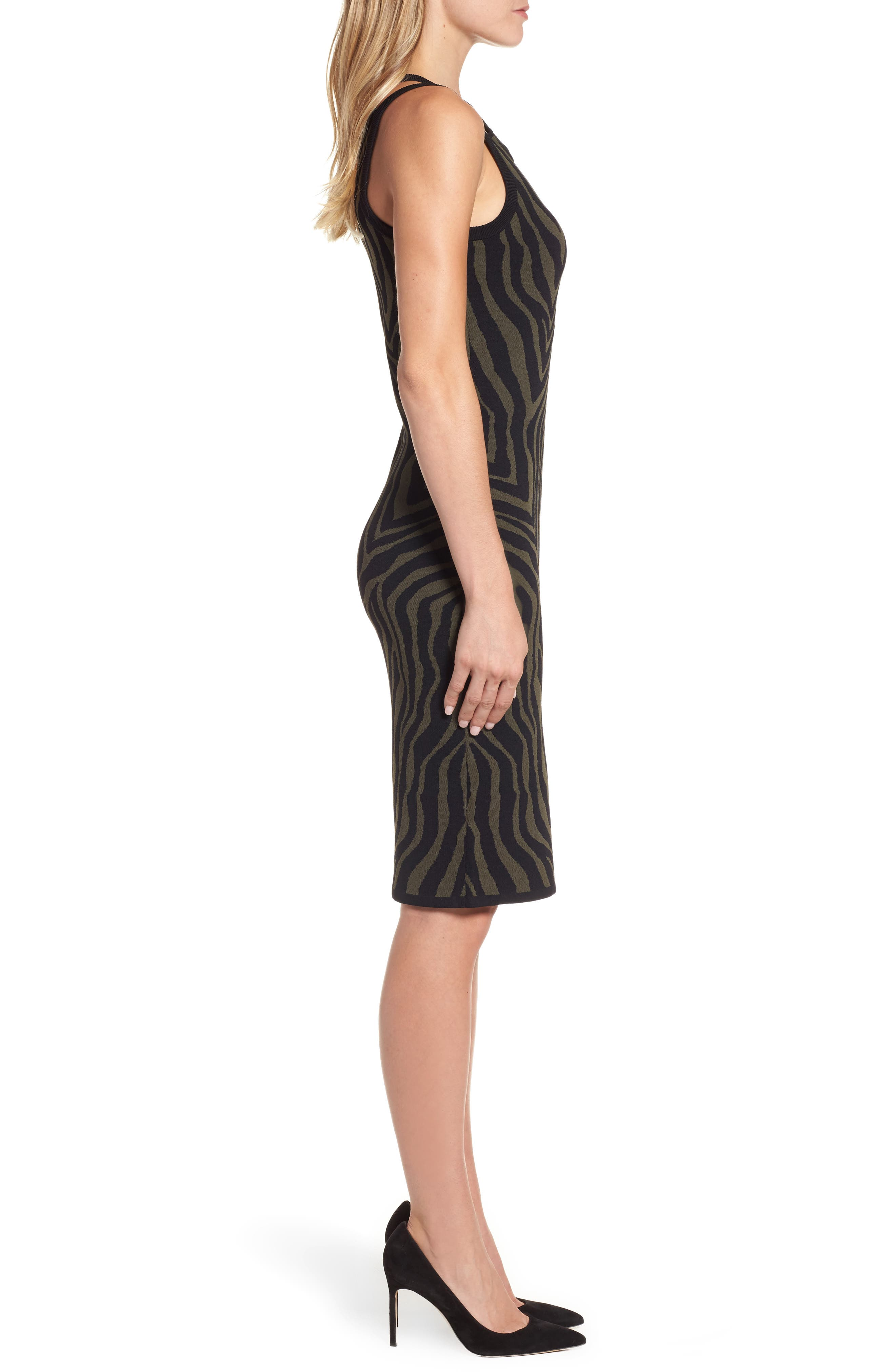 Double Trim Tank Dress,                             Alternate thumbnail 3, color,
