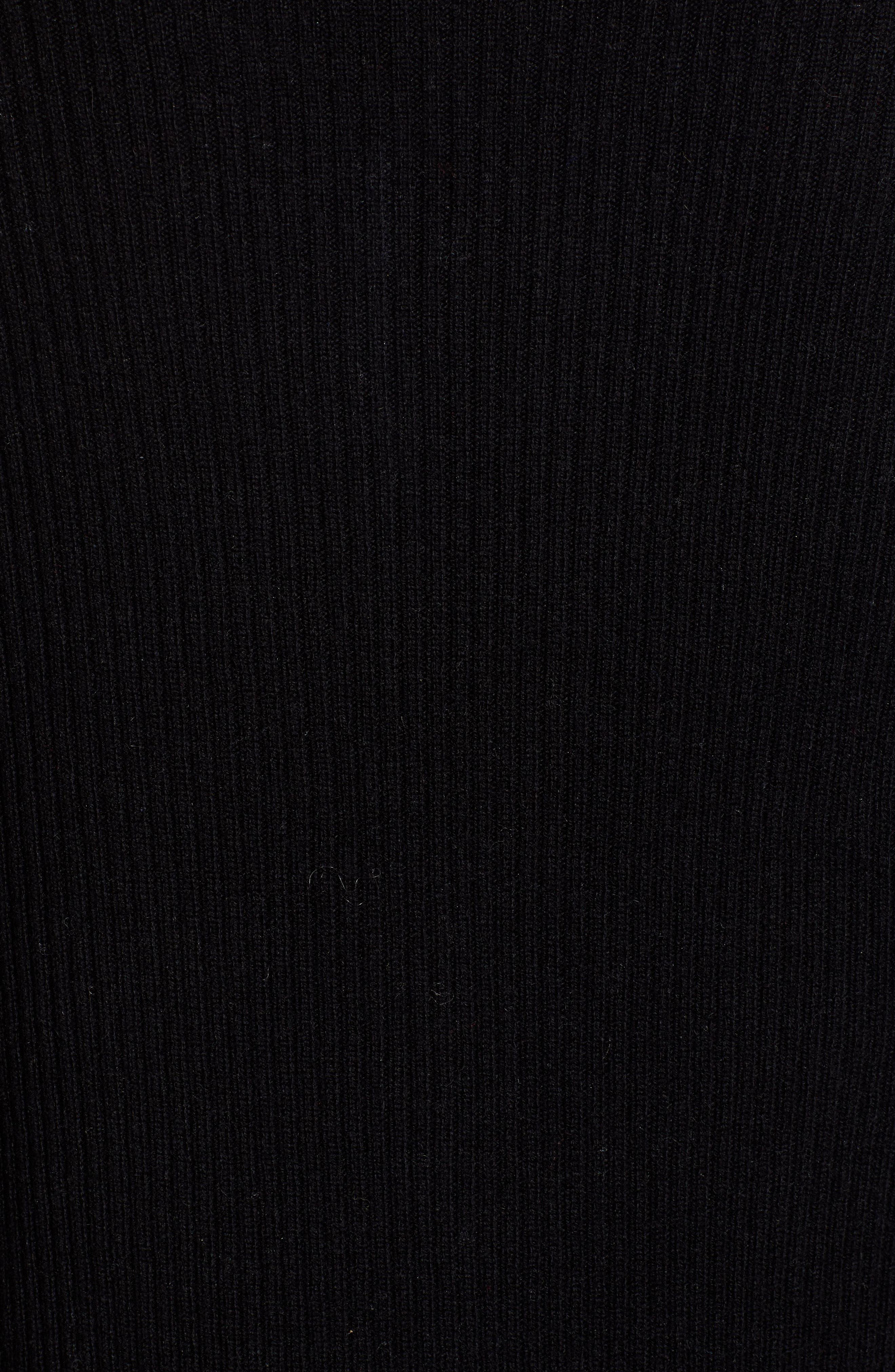 Quaid Knit Sweater Dress,                             Alternate thumbnail 6, color,                             TRUE BLACK