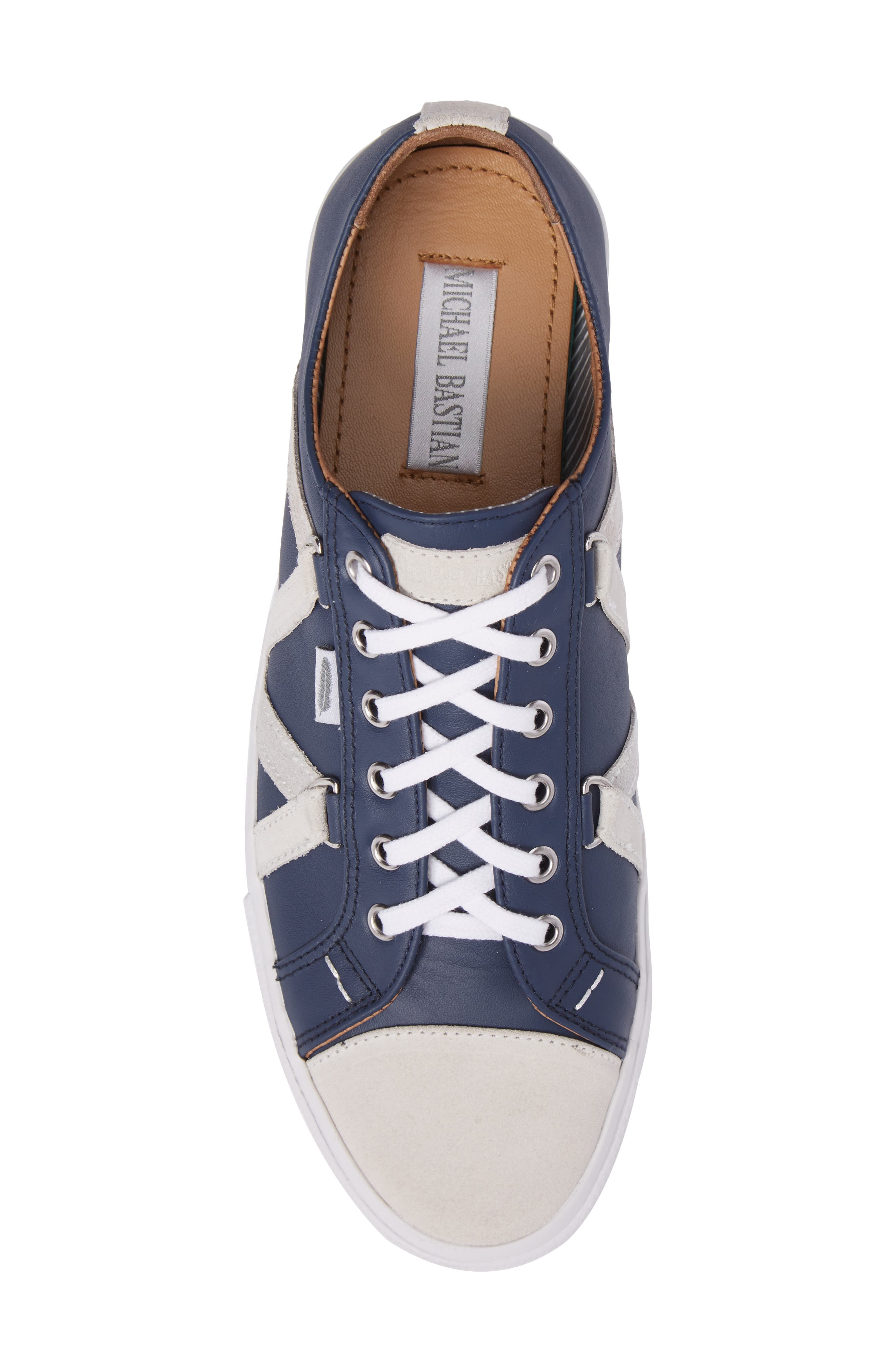 Signature Sneaker,                             Alternate thumbnail 5, color,                             NAVY LEATHER