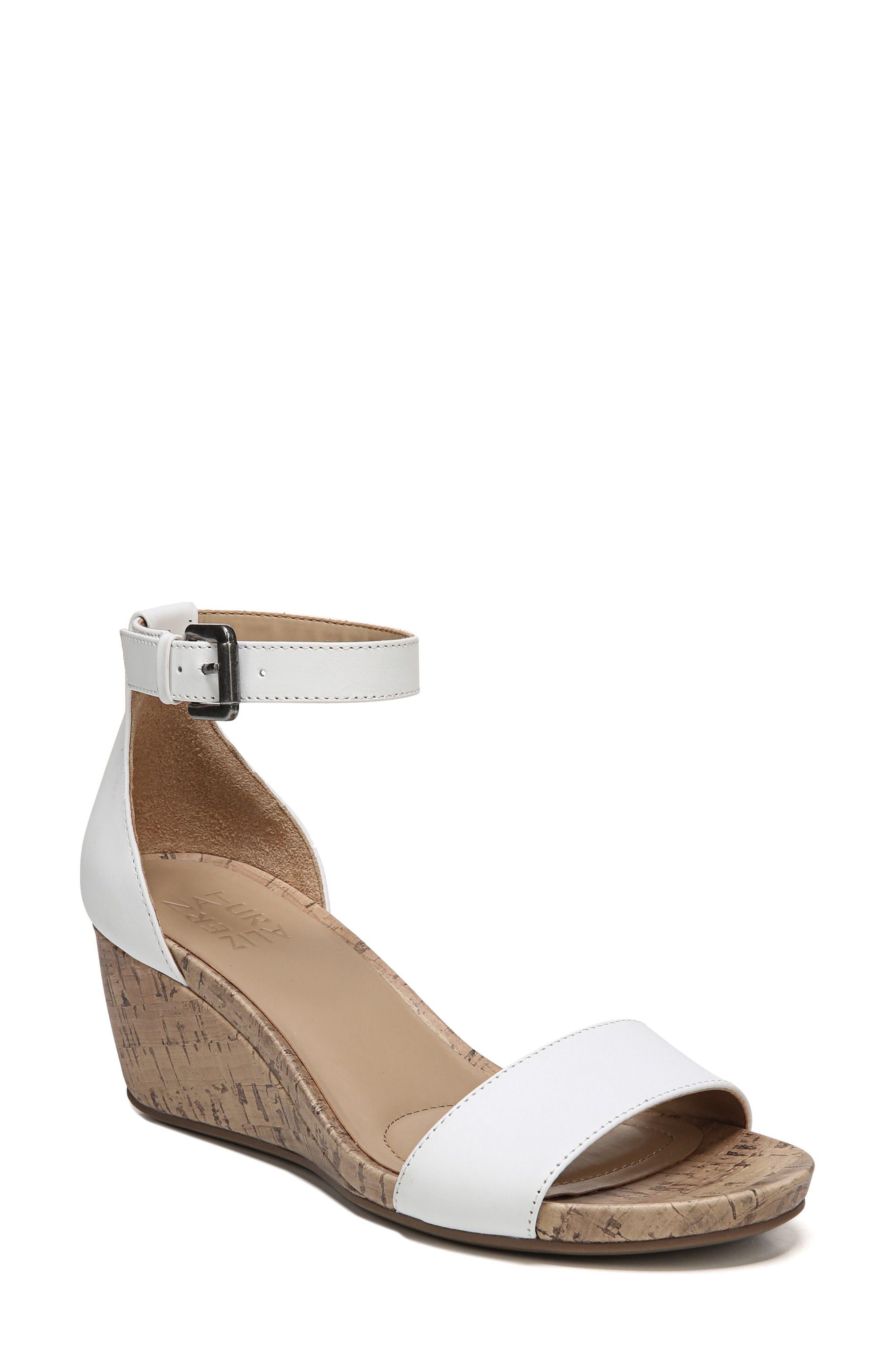 Cami Wedge Sandal,                             Alternate thumbnail 2, color,                             WHITE LEATHER