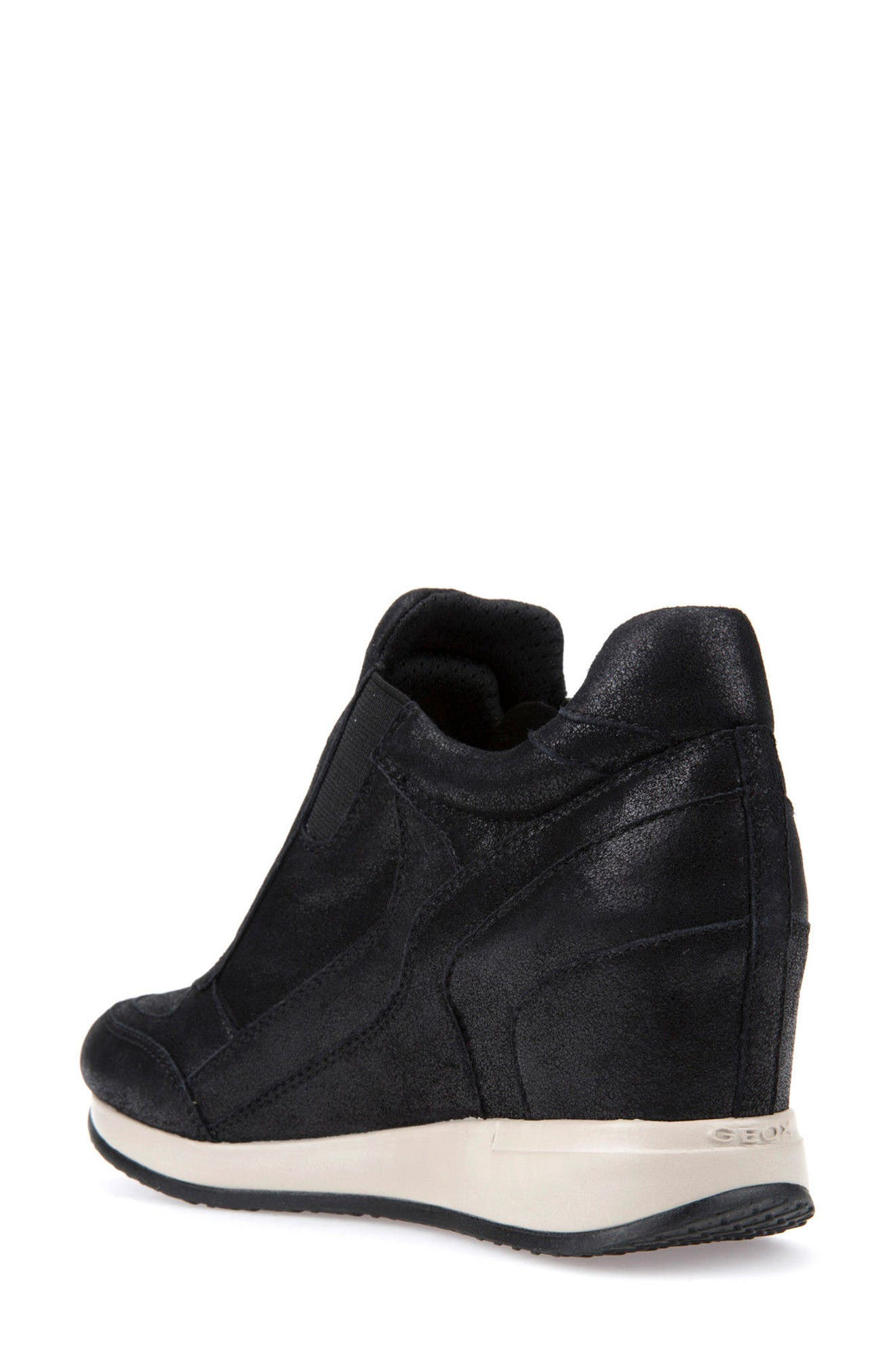 Nydame Wedge Sneaker,                             Alternate thumbnail 2, color,                             001