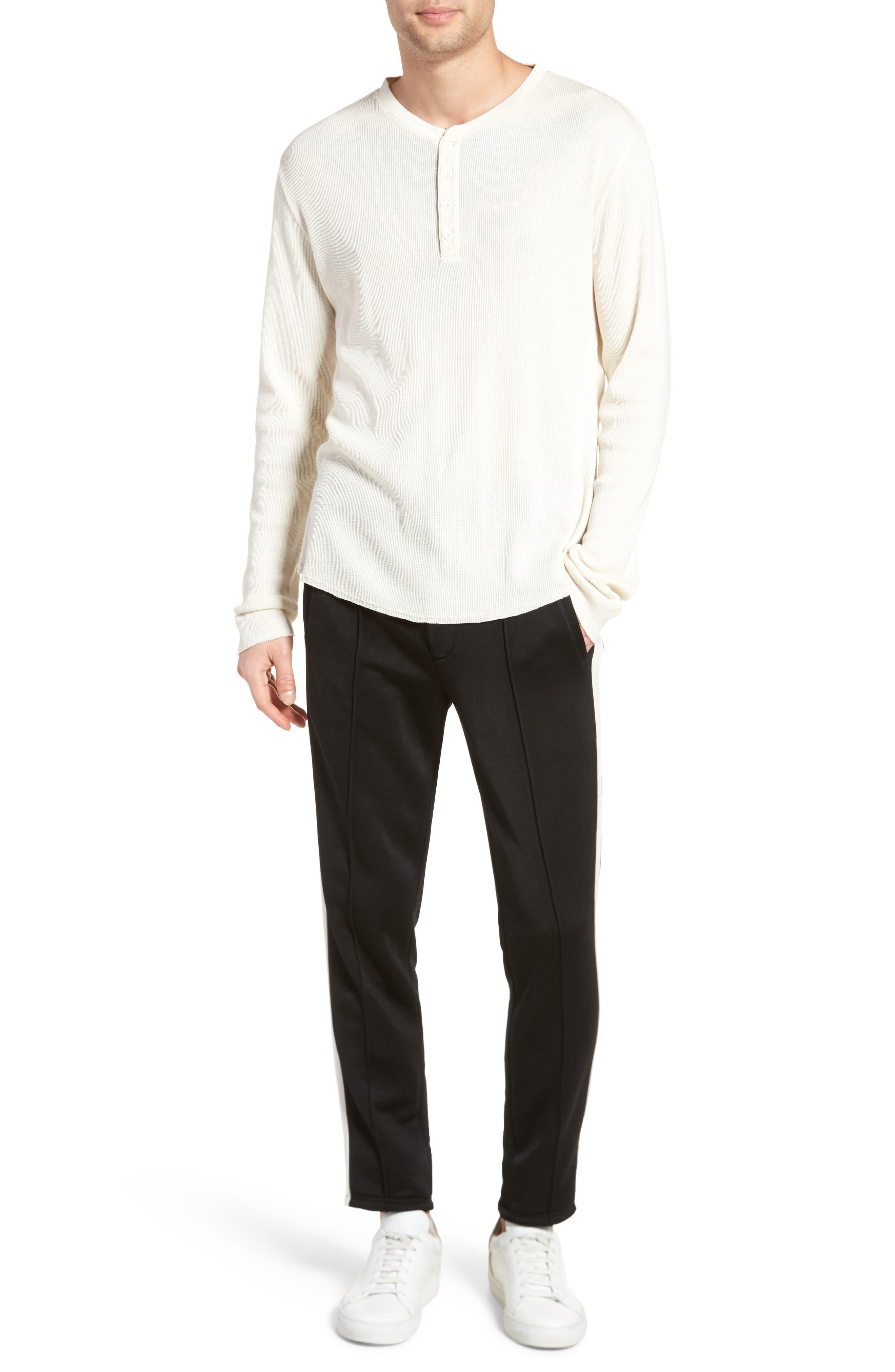 Thermal Knit Long Sleeve Henley T-Shirt,                             Alternate thumbnail 7, color,                             101