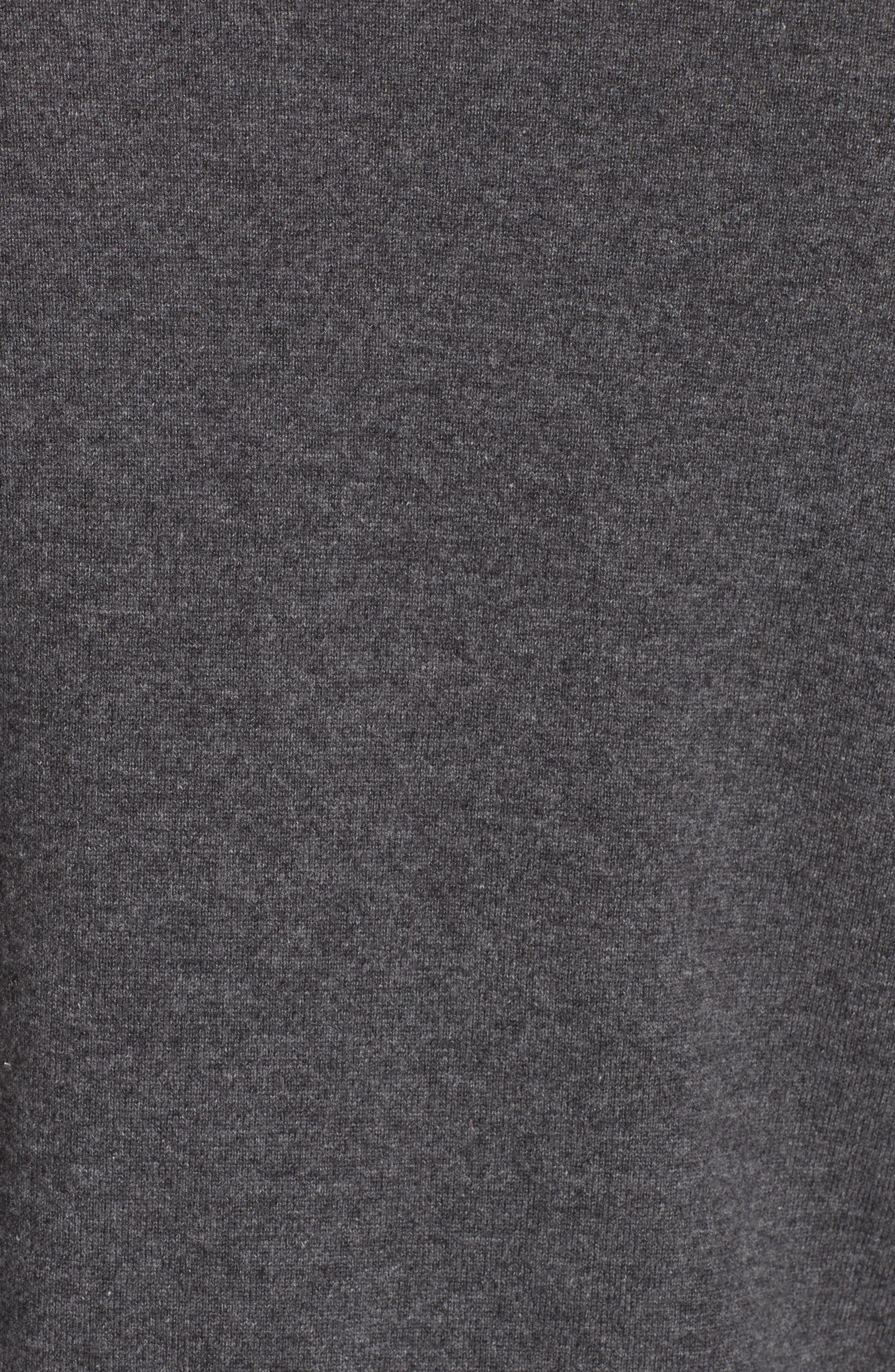 Cashmere Crewneck Sweater,                             Alternate thumbnail 5, color,                             ANTHRACITE