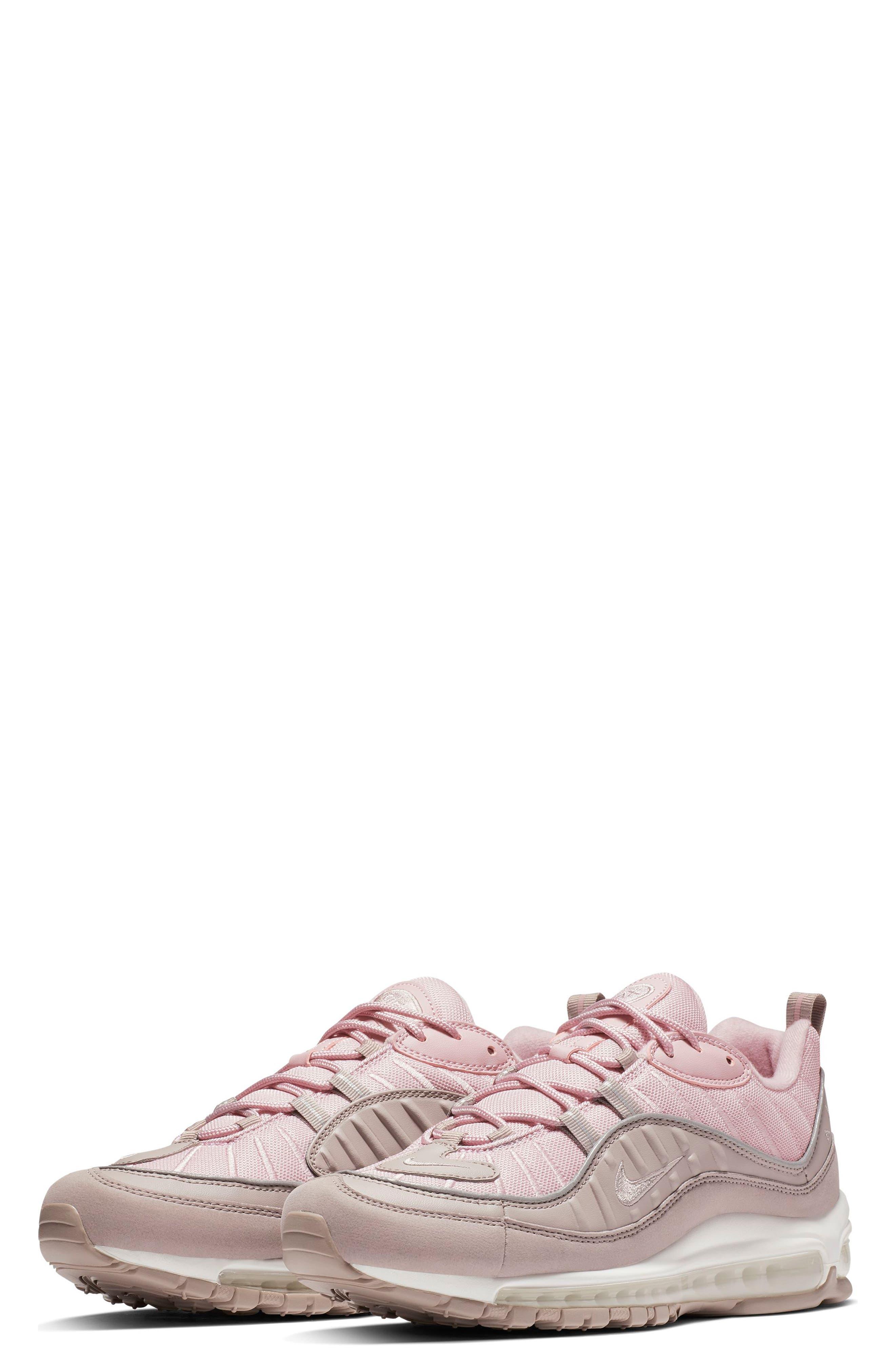 Air Max 98 Sneaker,                             Main thumbnail 1, color,                             PUMICE/ PLUM CHALK/ WHITE