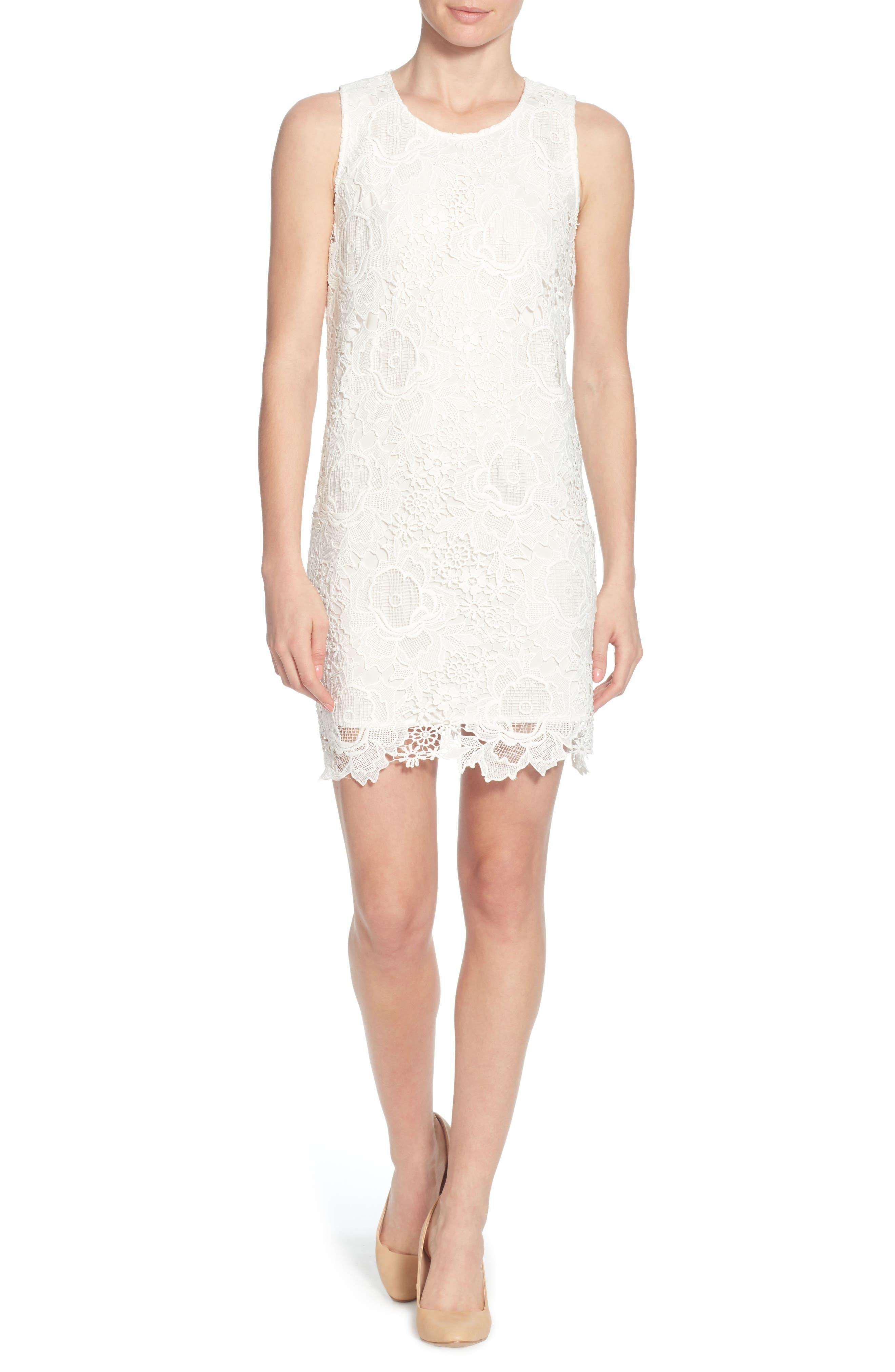 Sherrell Lace Sheath Dress,                             Main thumbnail 1, color,                             165