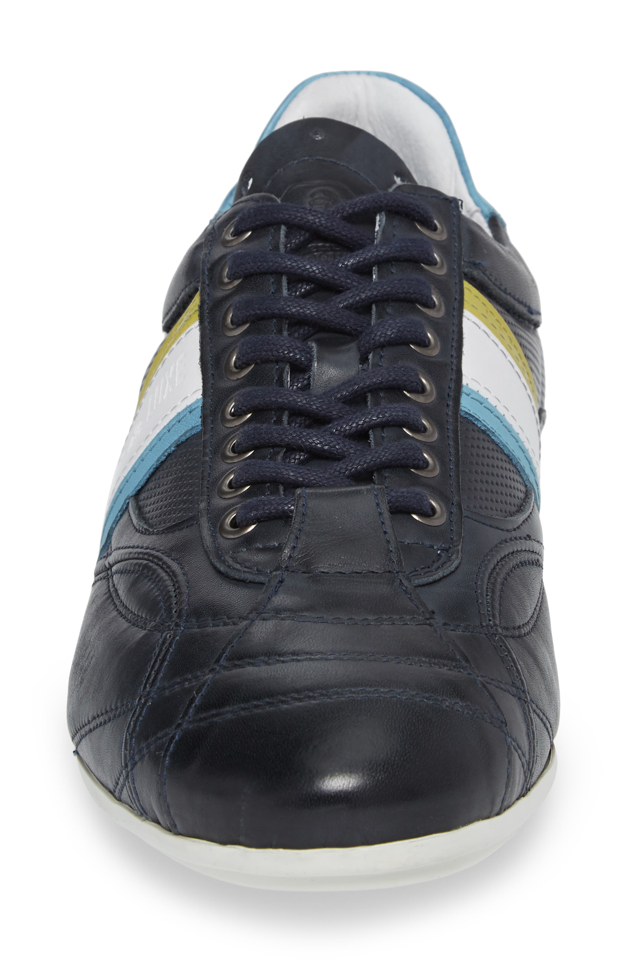 Crush City Low Top Sneaker,                             Alternate thumbnail 4, color,                             NAVY LEATHER