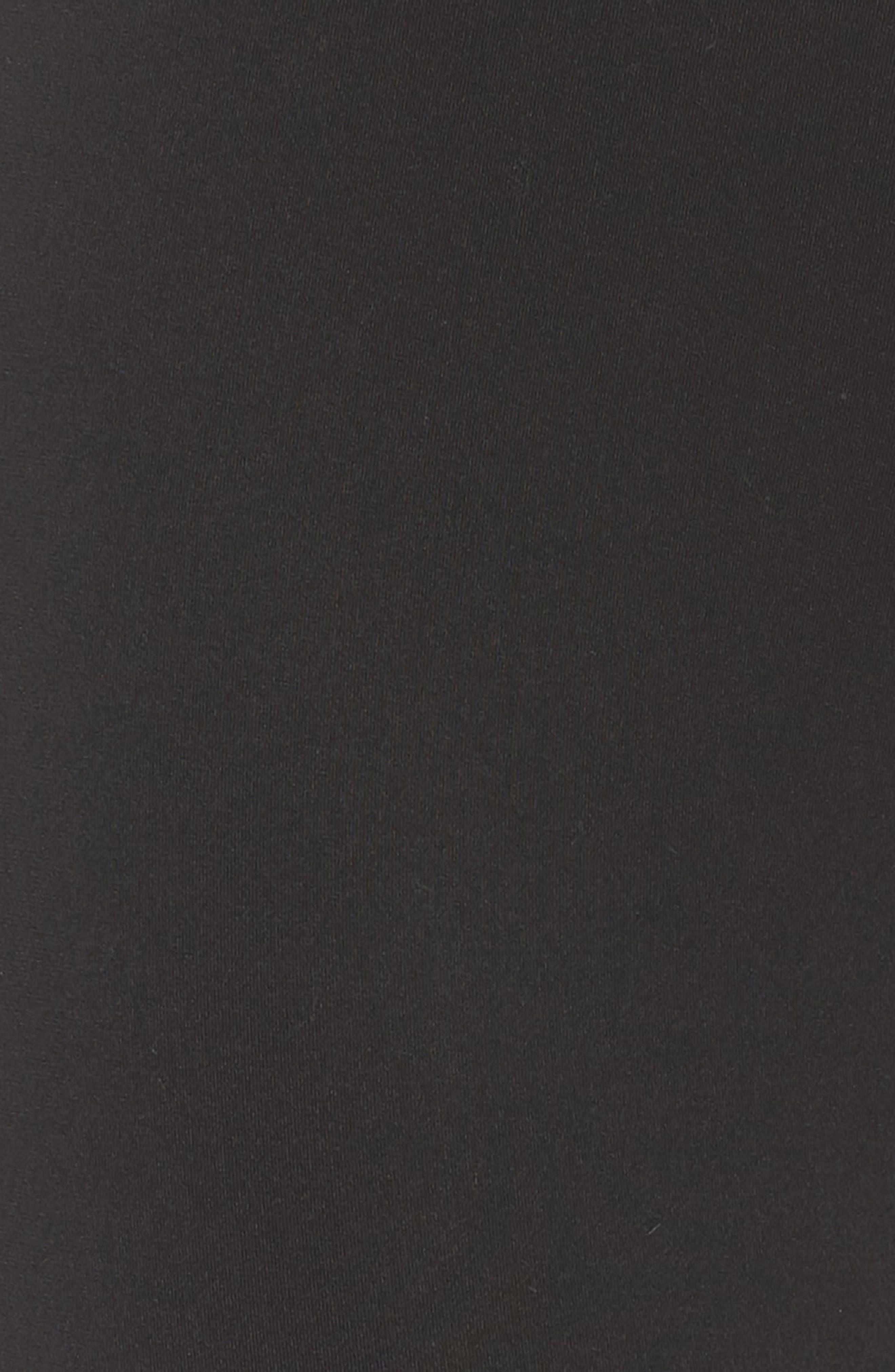Trefoil Tights,                             Alternate thumbnail 6, color,                             BLACK