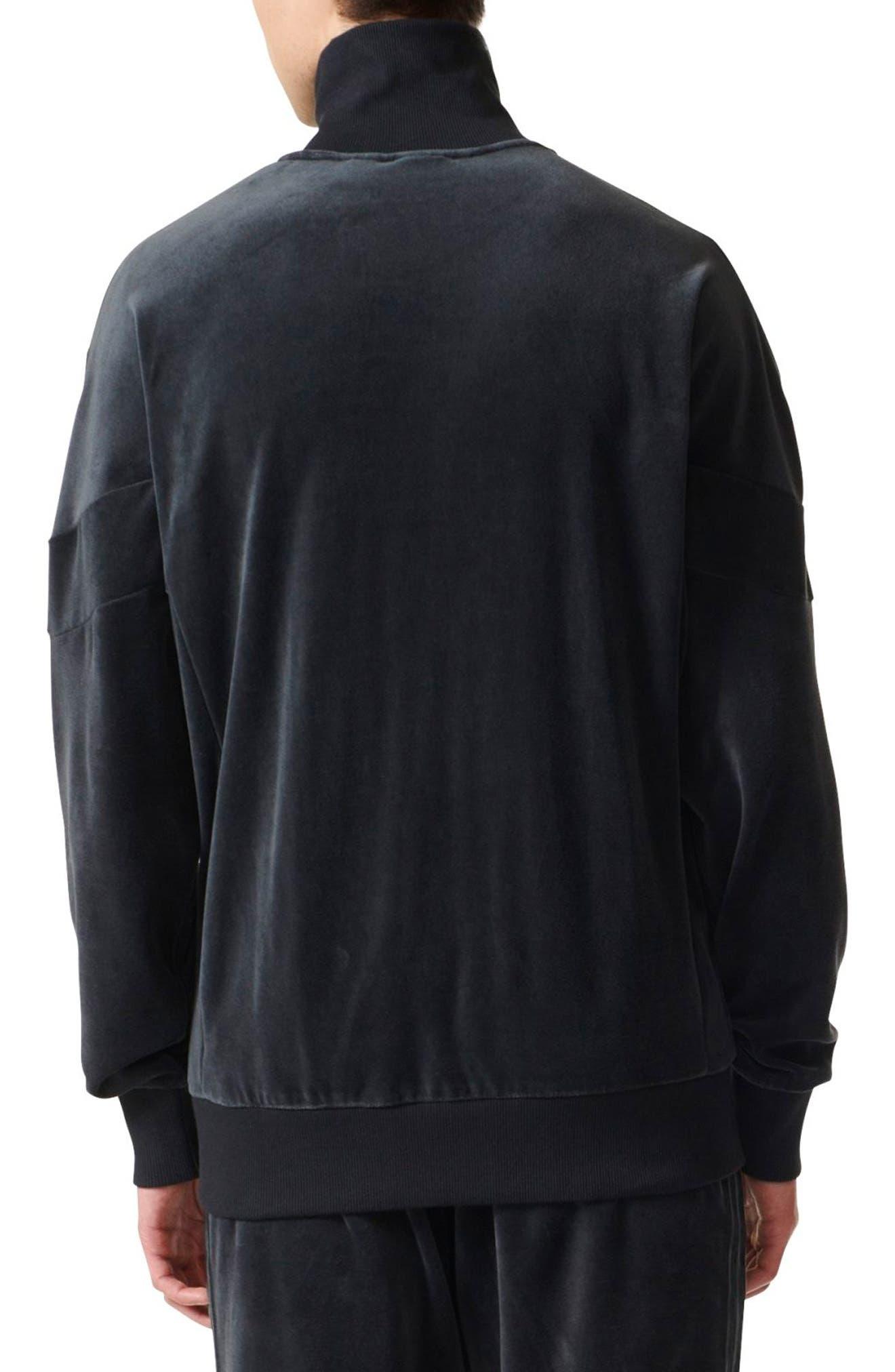 Velour Track Jacket,                             Alternate thumbnail 2, color,                             001