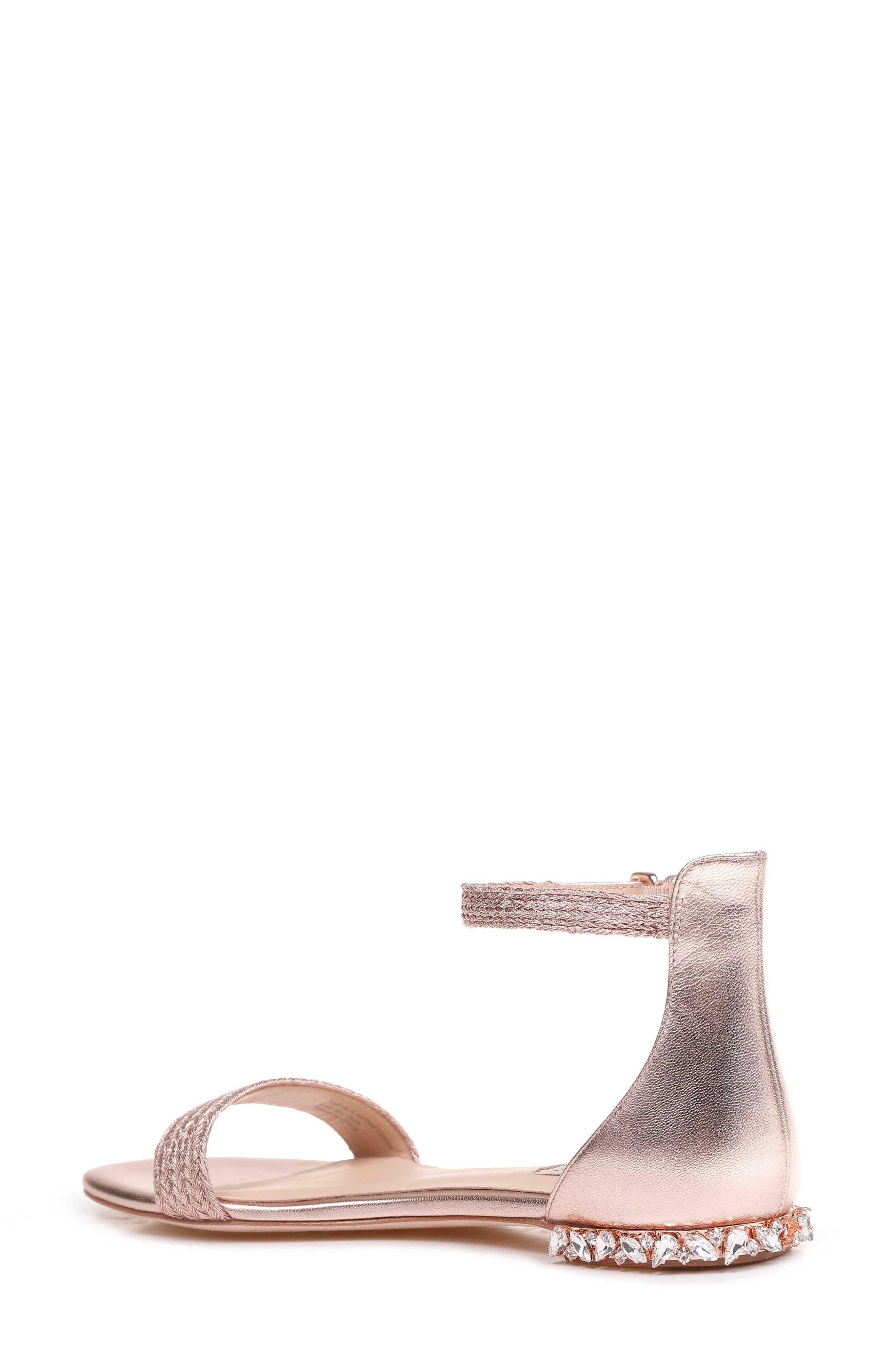 Steffie Ankle Strap Sandal,                             Alternate thumbnail 2, color,                             ROSE GOLD LEATHER