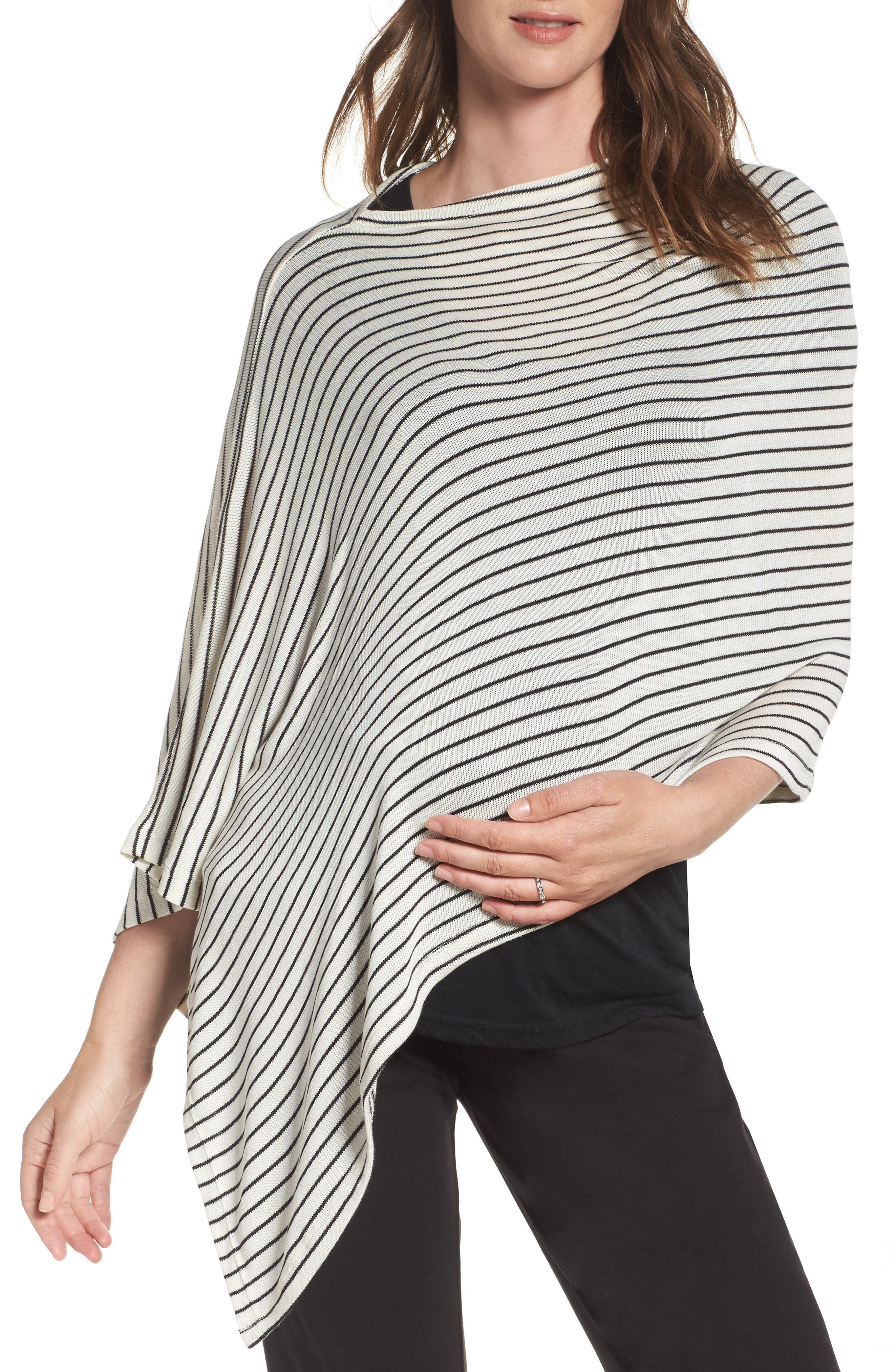 New Mama Asymmetrical Poncho,                             Main thumbnail 1, color,                             100
