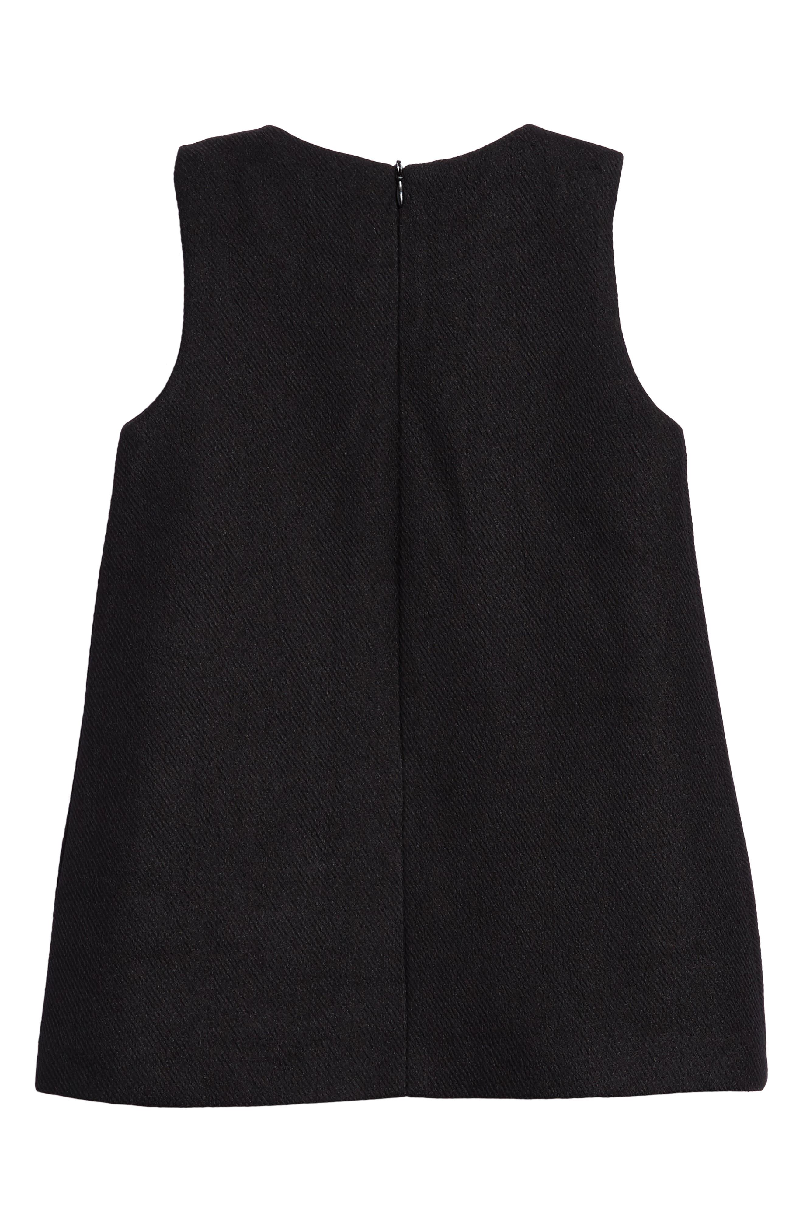 Mod Sleeveless Shift Dress,                             Alternate thumbnail 2, color,                             001