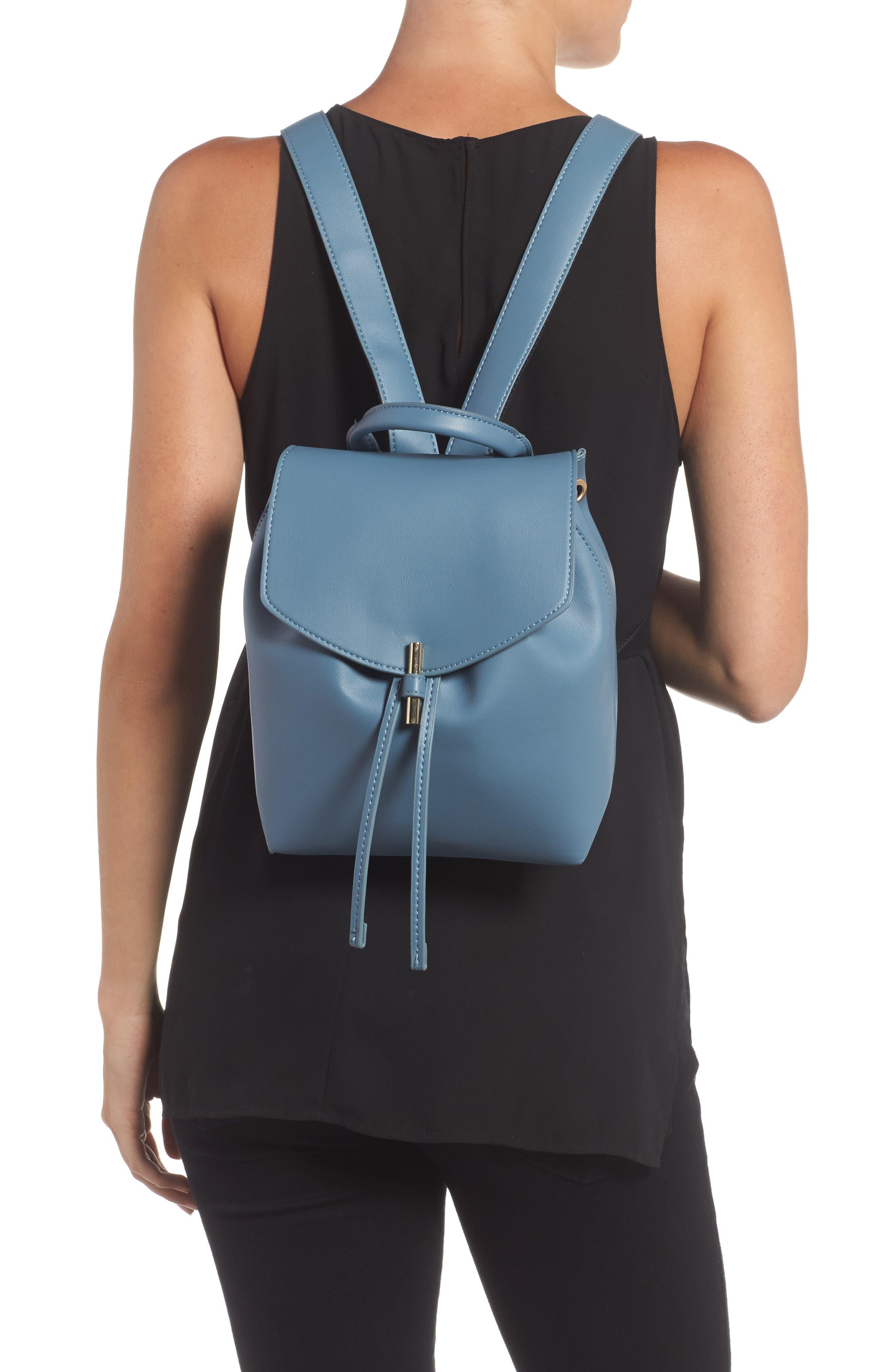 Blake Mini Faux Leather Backpack,                             Alternate thumbnail 4, color,
