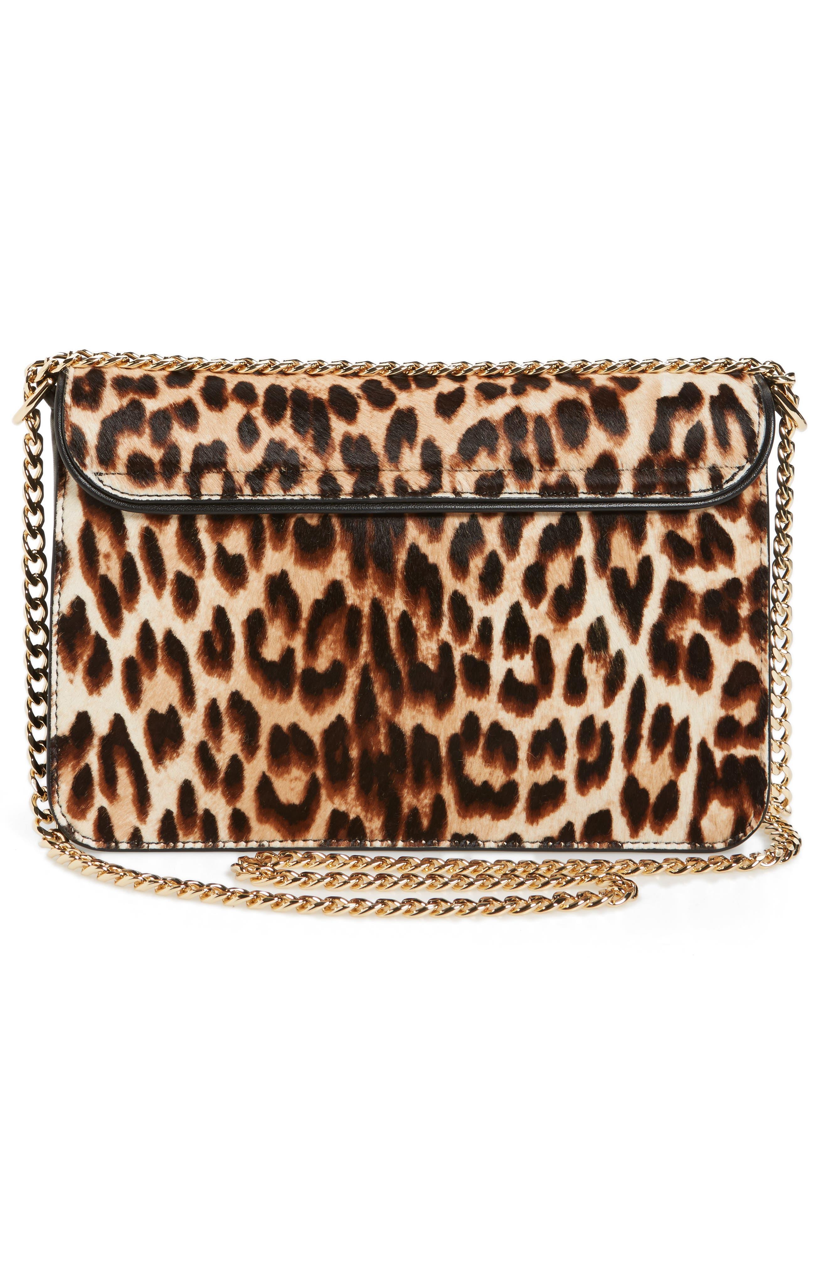 Chelsea Genuine Calf Hair Shoulder Bag,                             Alternate thumbnail 4, color,