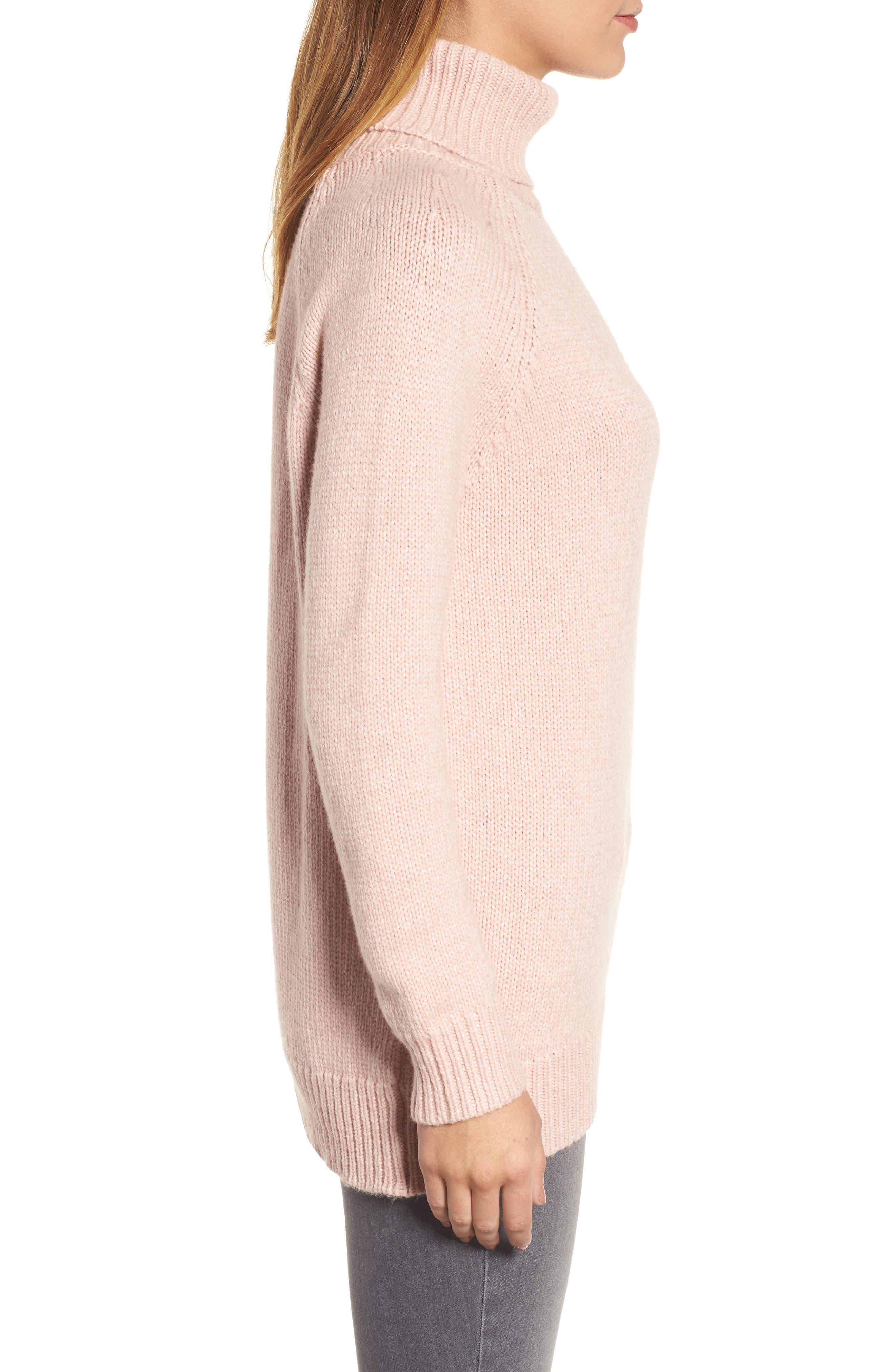 Textured Turtleneck Sweater,                             Alternate thumbnail 6, color,