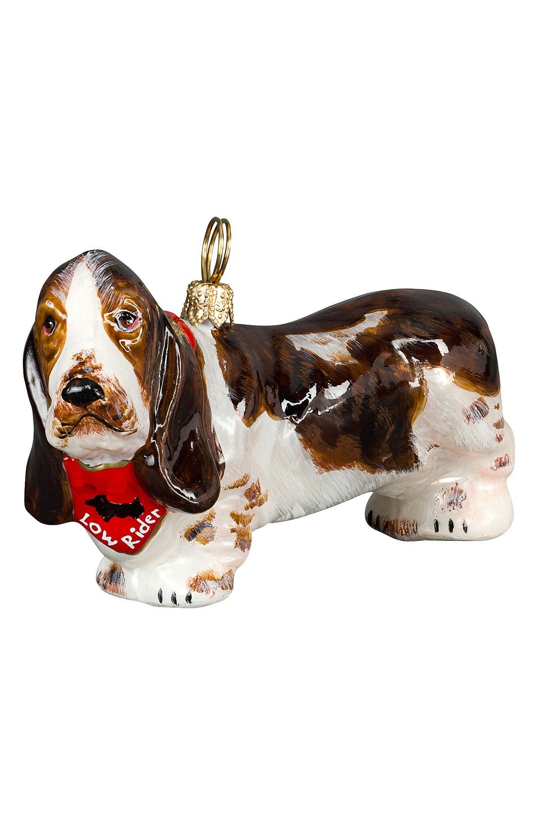 'Basset Hound Low Rider' Ornament,                             Main thumbnail 1, color,                             NO COLOR