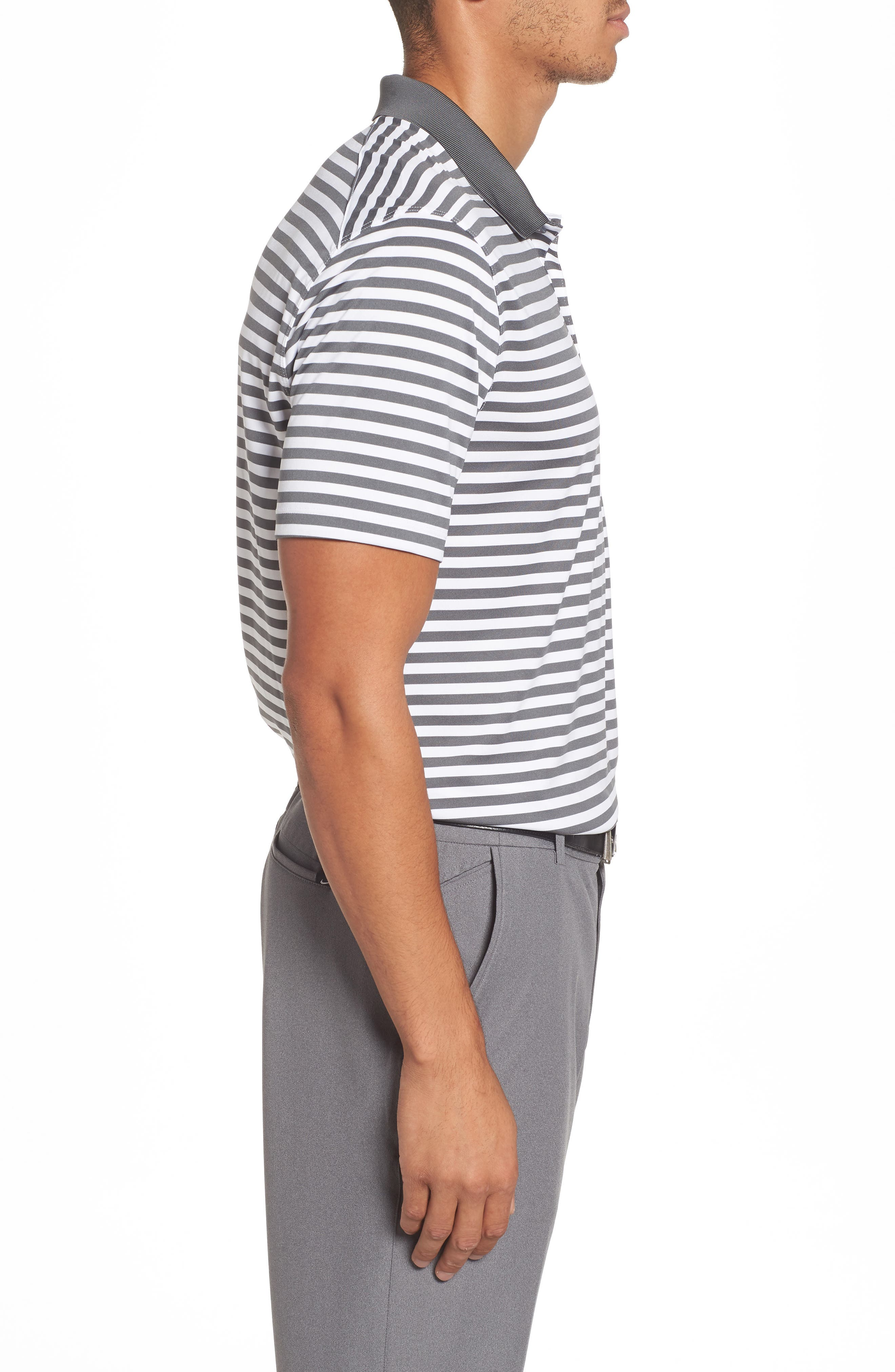 NIKE,                             Dry Victory Stripe Polo,                             Alternate thumbnail 3, color,                             021