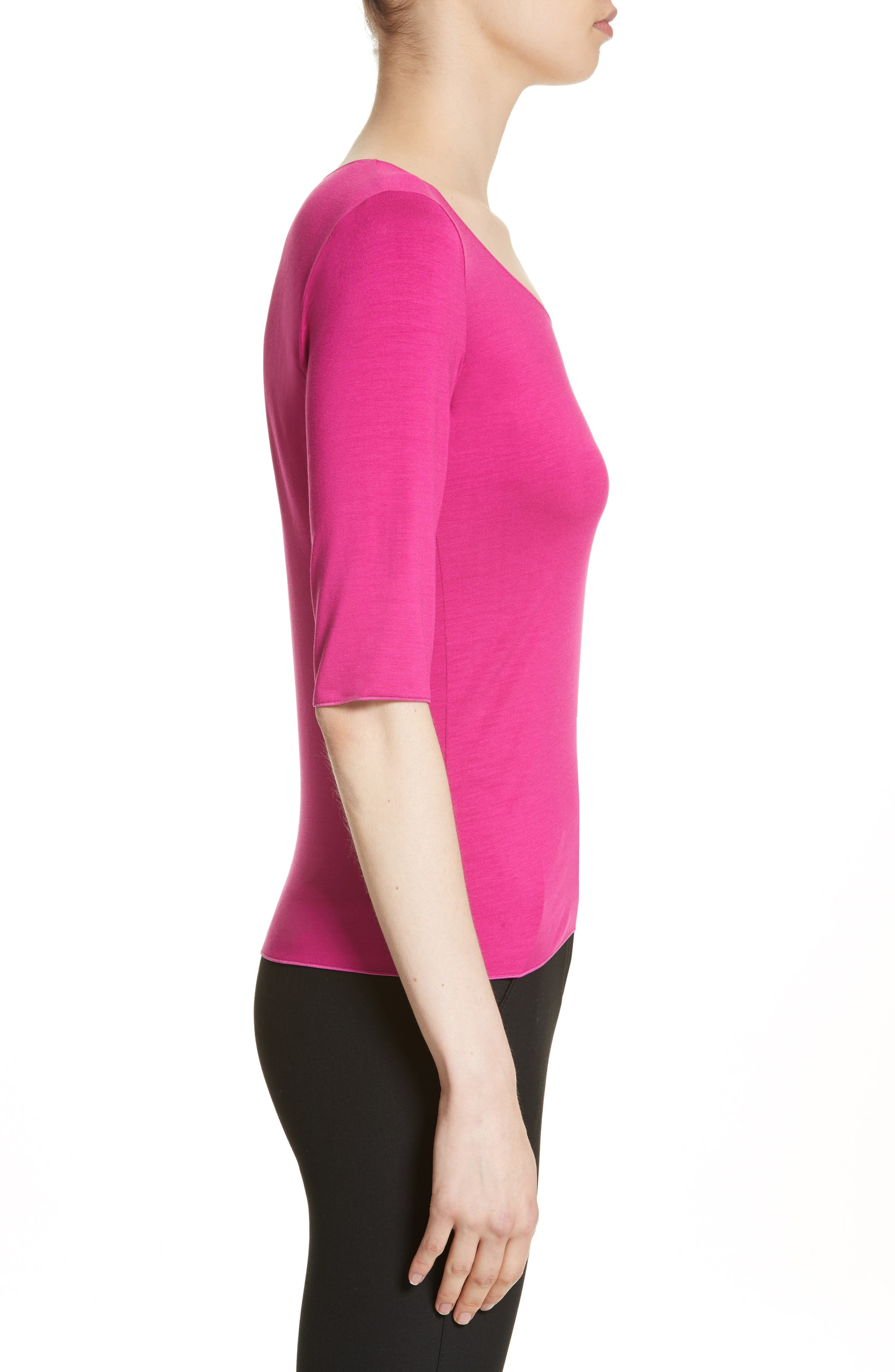 Stretch Jersey Top,                             Alternate thumbnail 3, color,                             696