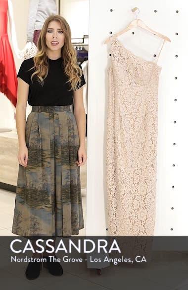 One-Shoulder Lace Gown, sales video thumbnail