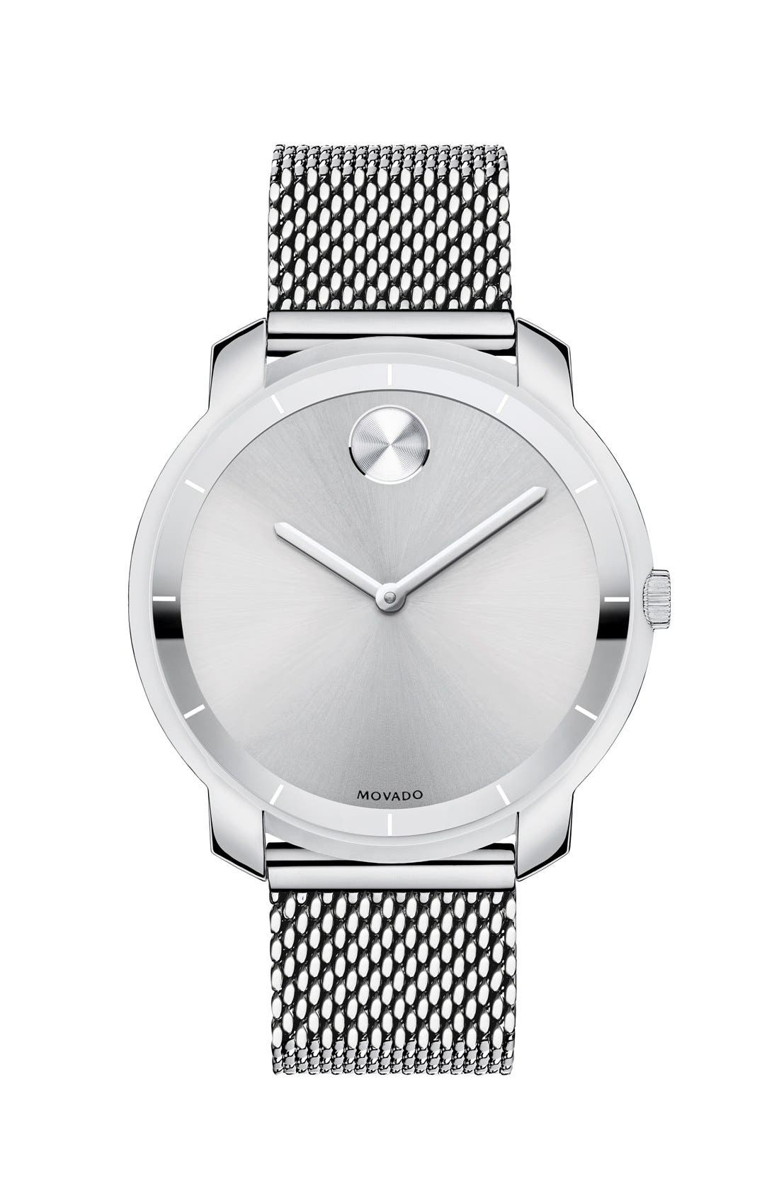 'Bold' Mesh Strap Watch, 36mm,                         Main,                         color, 040