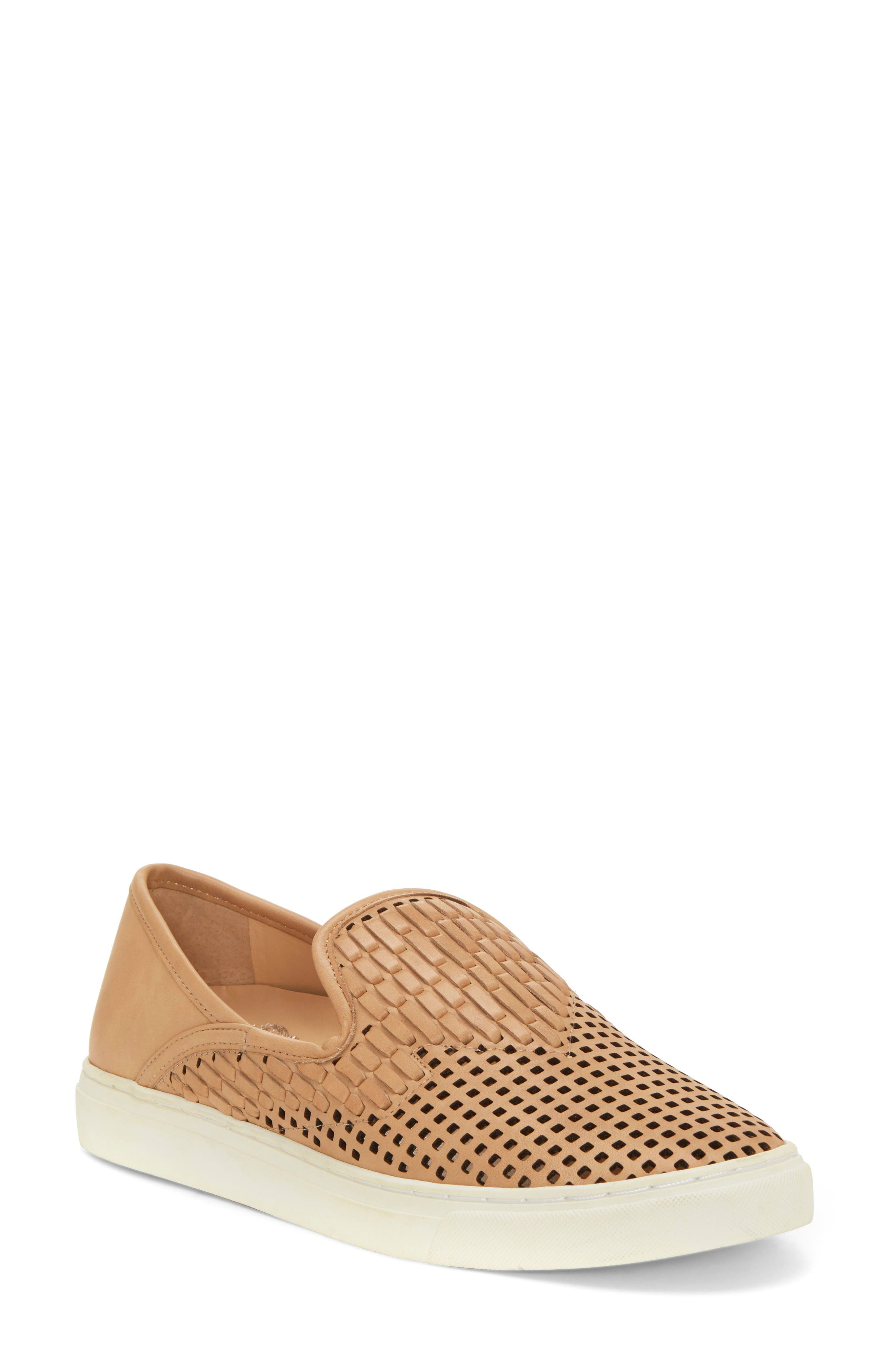 VINCE CAMUTO Bristie Sneaker, Main, color, NATURAL LEATHER