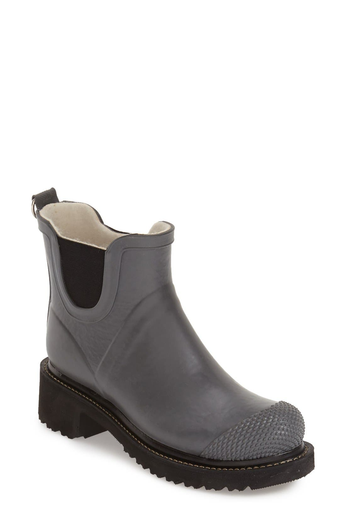 'RUB 47' Short Waterproof Rain Boot,                             Main thumbnail 1, color,                             GREY