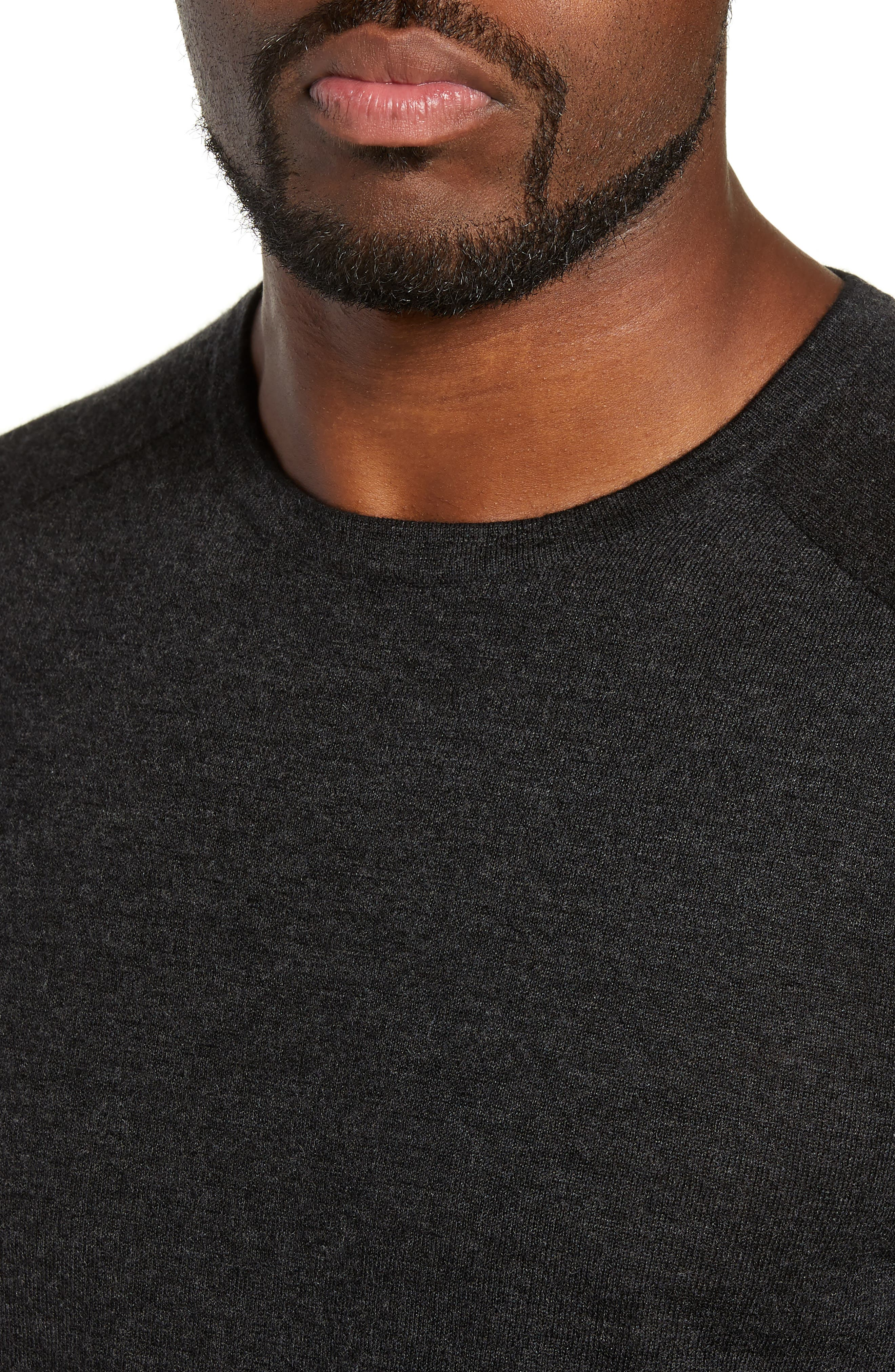 NORDSTROM SIGNATURE,                             Cashmere Crewneck Sweater,                             Alternate thumbnail 4, color,                             030